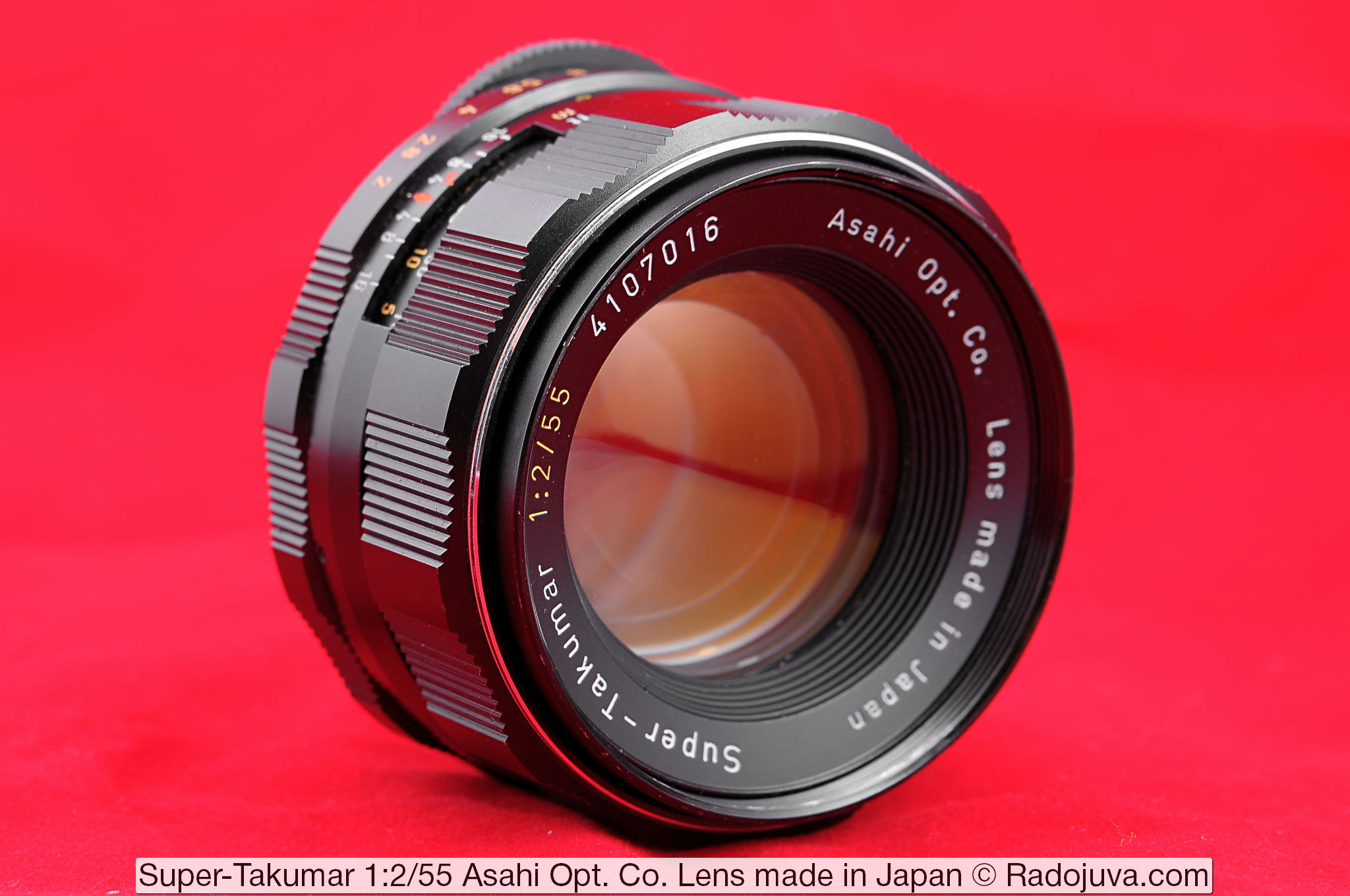 Super-Takumar 1:2/55 Asahi Opt. Co. Lens made in Japan