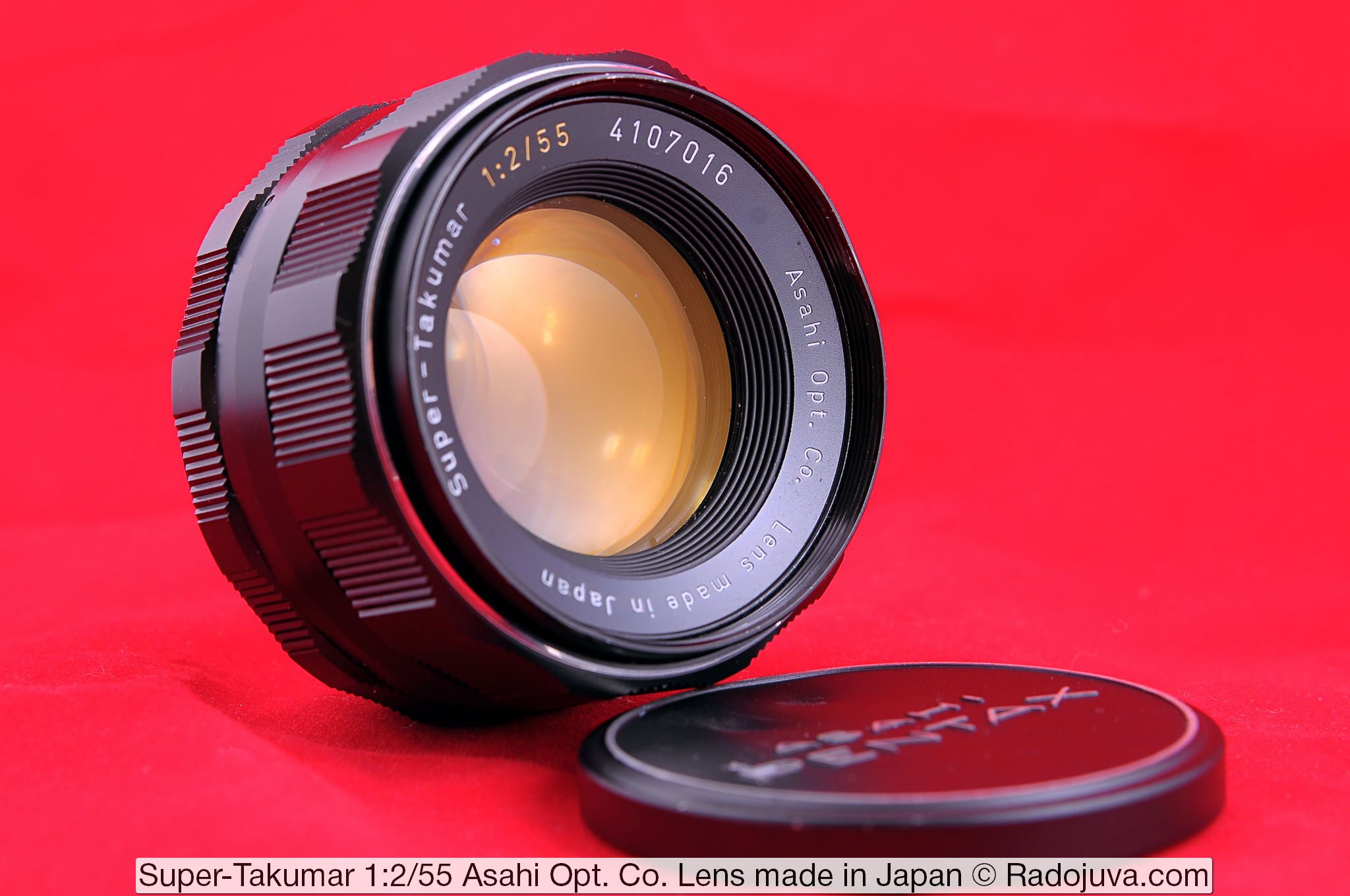 Объектив Super-Takumar 1:2/55 Asahi Opt. Co. Lens made in Japan
