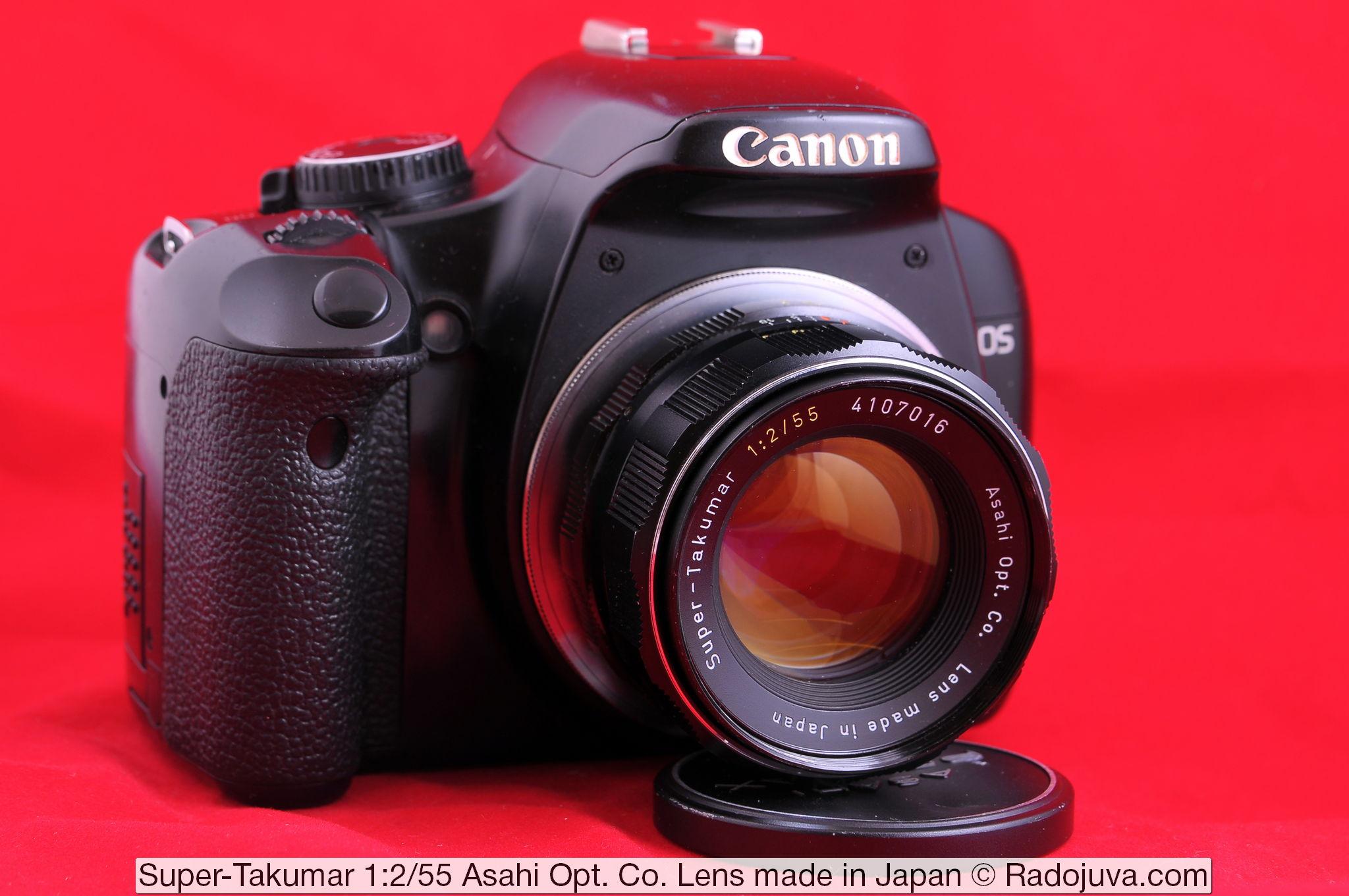 Super-Takumar 1:2/55 Asahi Opt. Co. Lens made in Japan