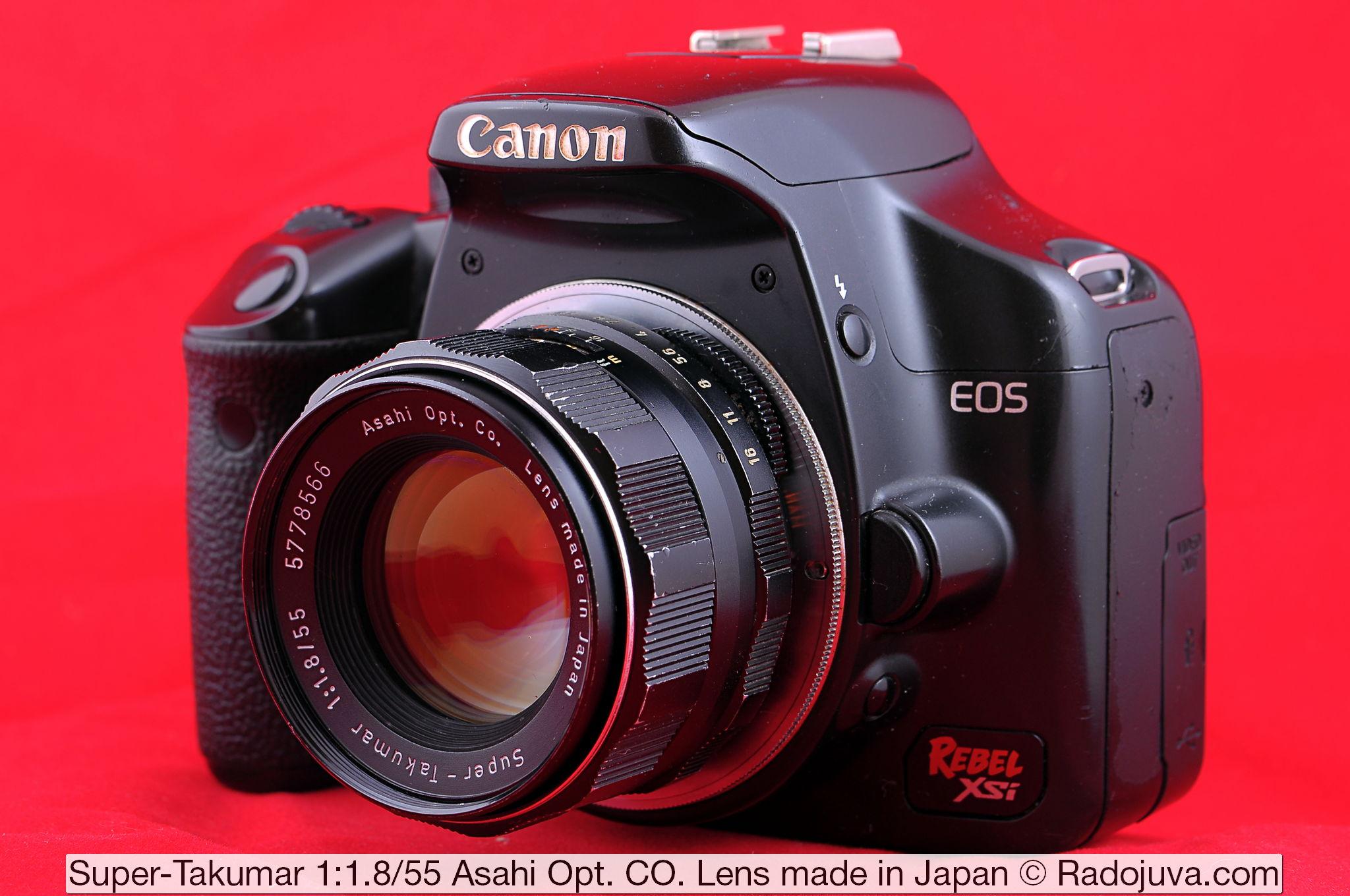 Super-Takumar 1:1.8/55 Asahi Opt. CO. Lens made in Japan