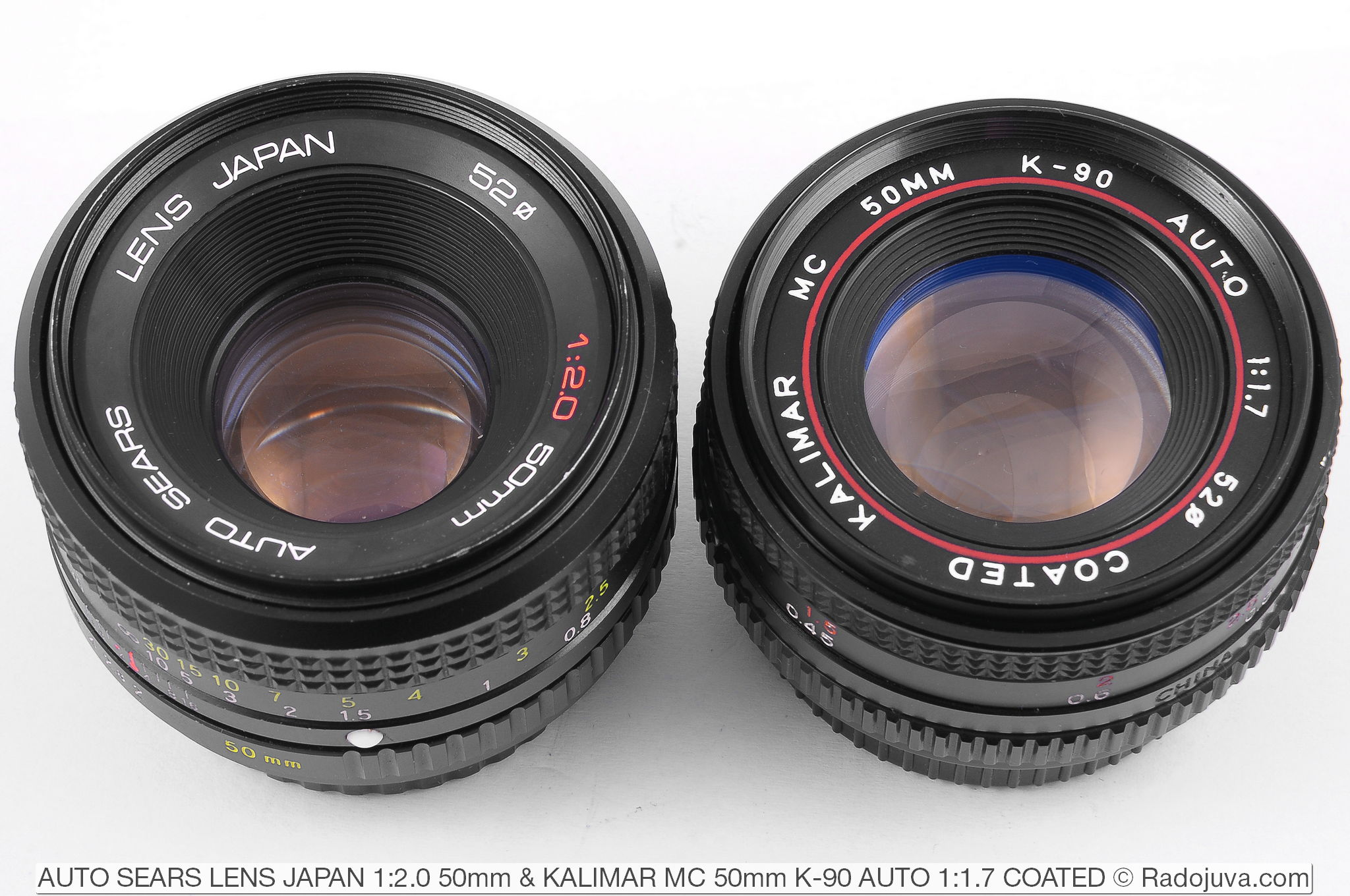 AUTO SEARS LENS JAPAN 1:2.0 50mm and KALIMAR MC 50mm K-90 AUTO 1:1.7 COATED