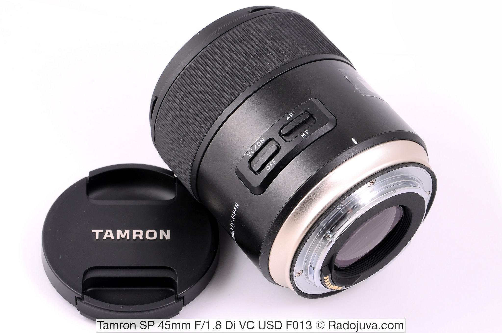 Tamron SP 45mm F/1.8 Di VC USD F013. Передняя крышка изготовлена в Японии.