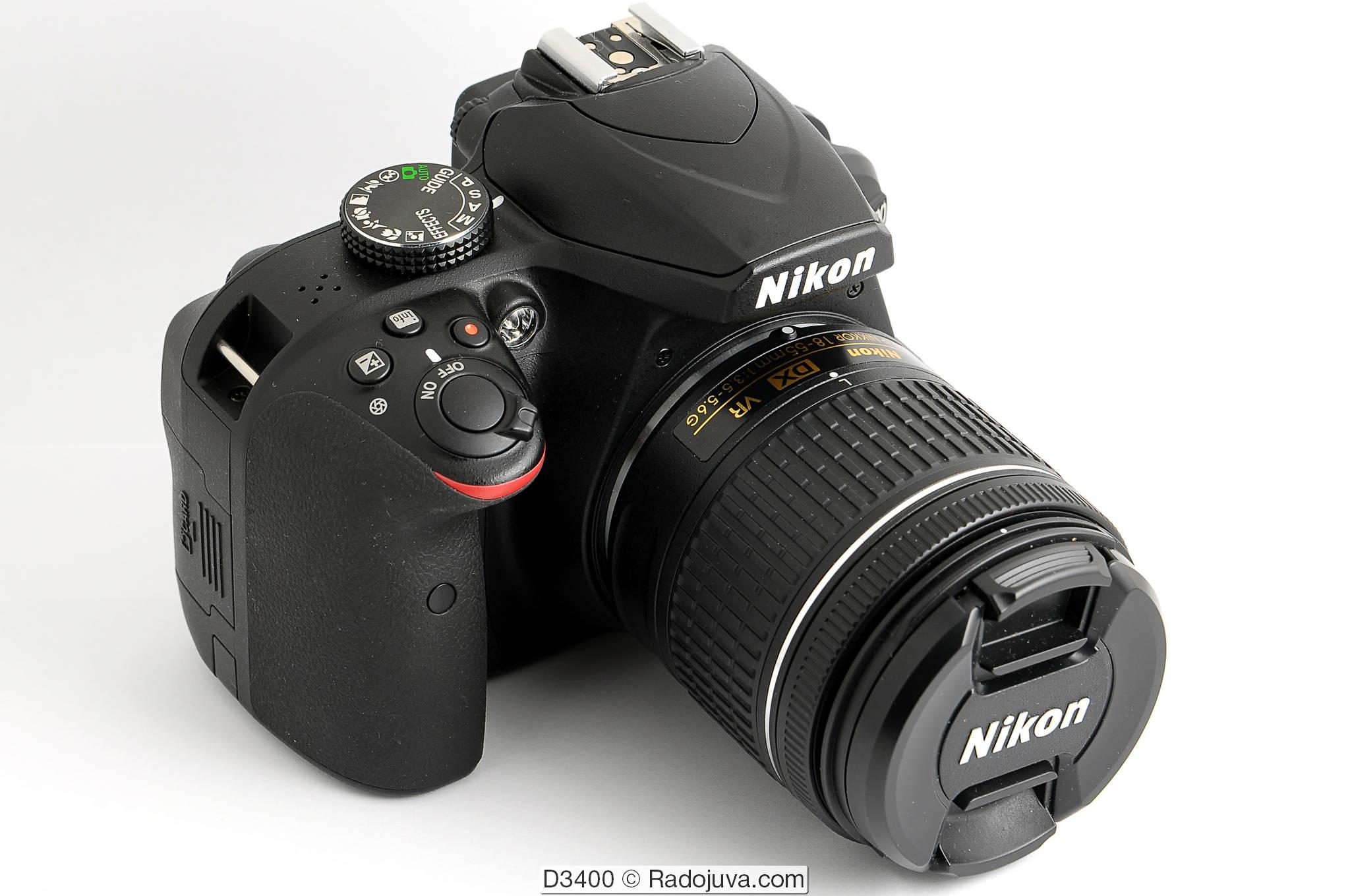 Nikon D3400 с объективом Nikon DX VR AF-P Nikkor 18-55mm 1:3.5-5.6G