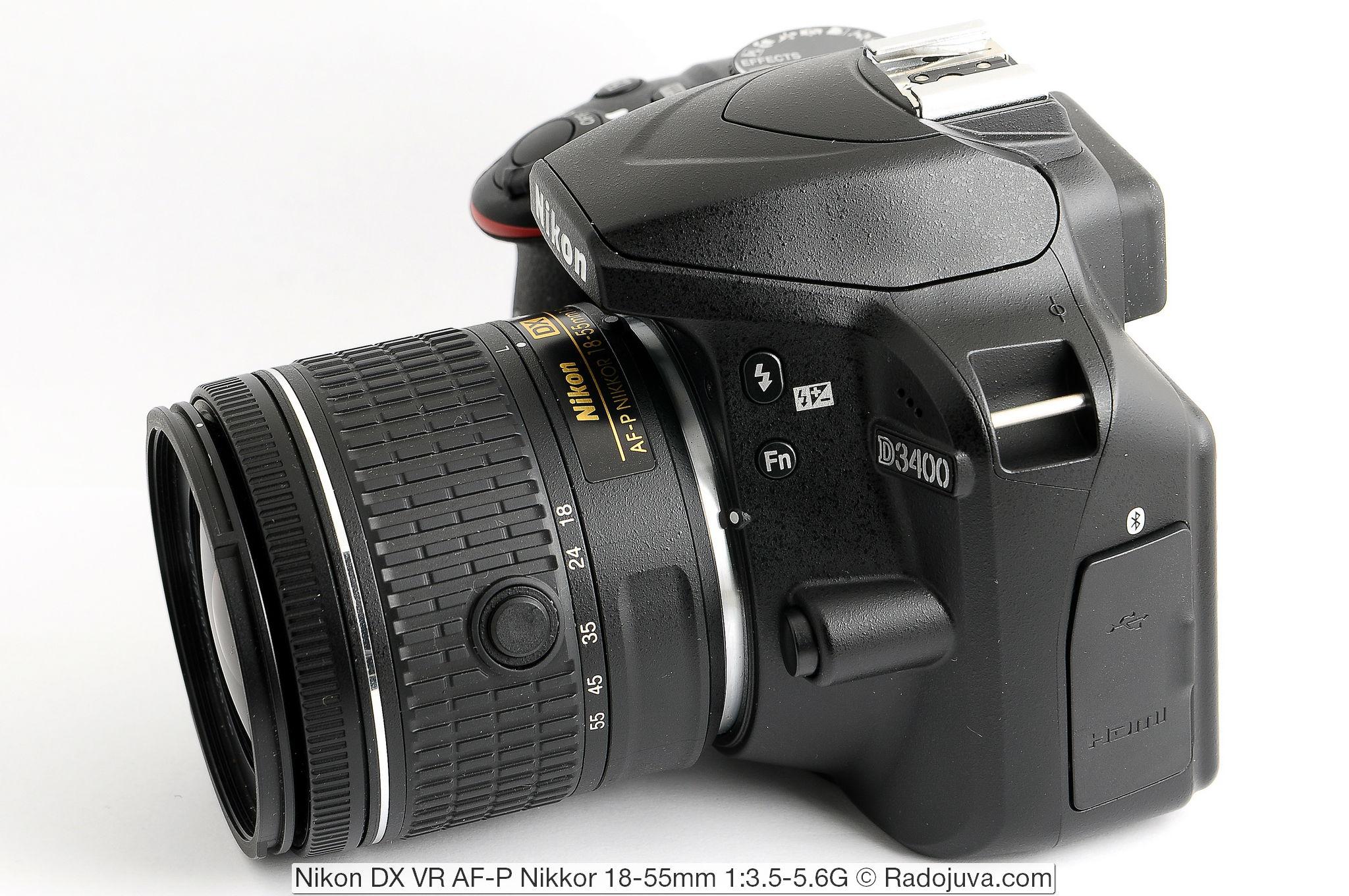 Nikon DX VR AF-P Nikkor 18-55mm 1:3.5-5.6G и фотоаппарат Nikon D3400