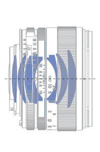 Оптическая схема Carl Zeiss Planar 1,4/50 ZE