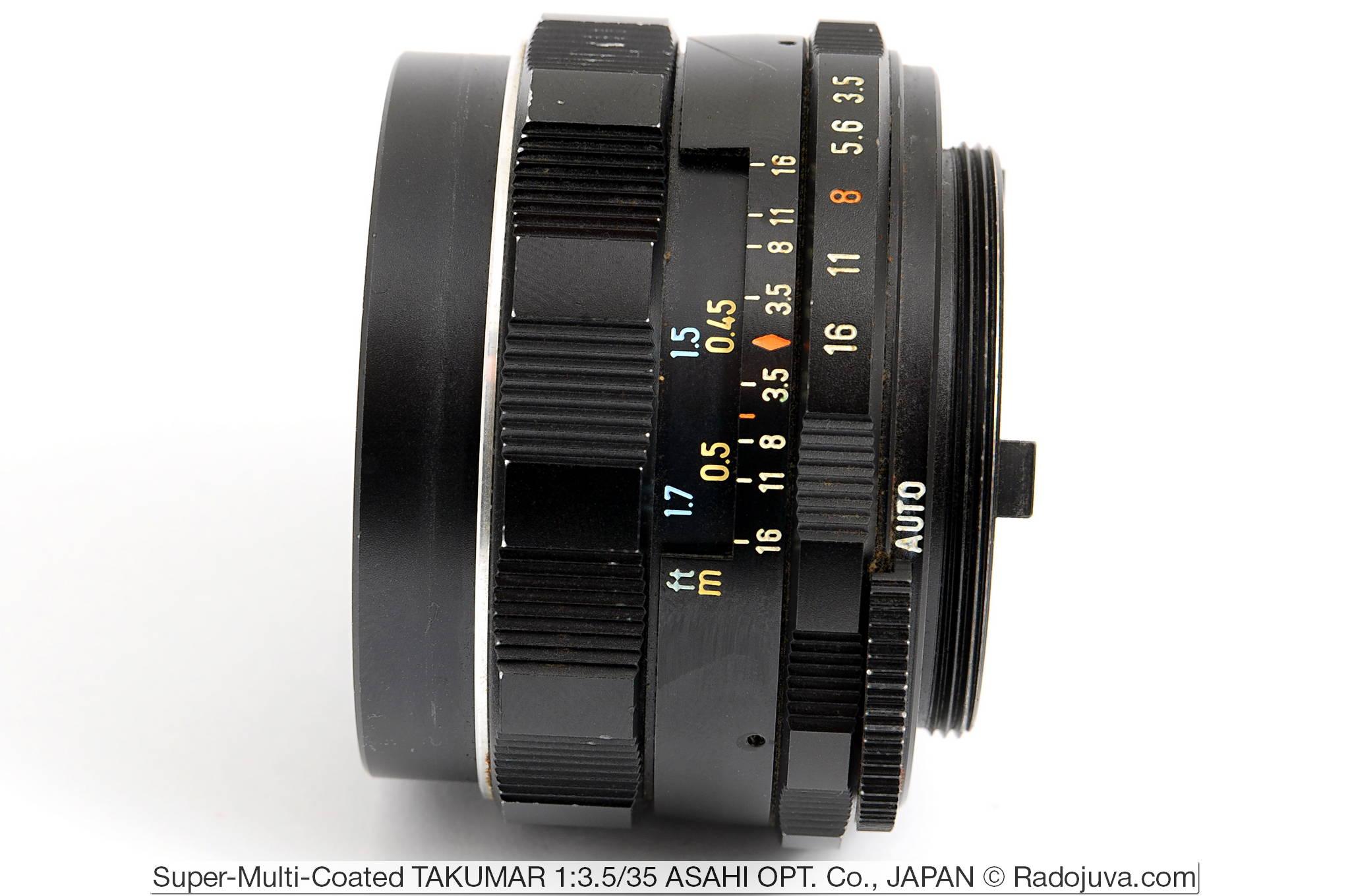Super-Multi-Coated TAKUMAR 1:3.5/35 ASAHI OPT. Co., JAPAN