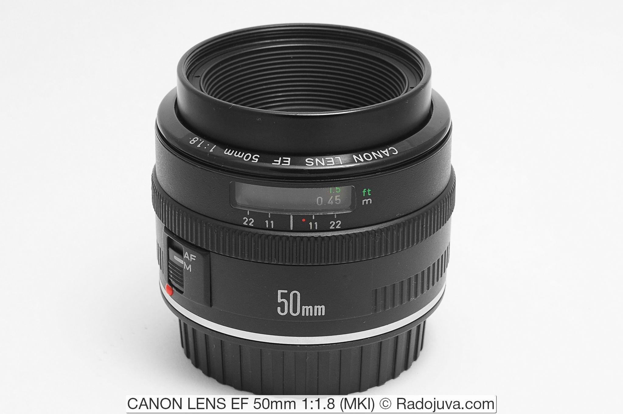 CANON LENS EF 50mm 1:1.8 (MKI)