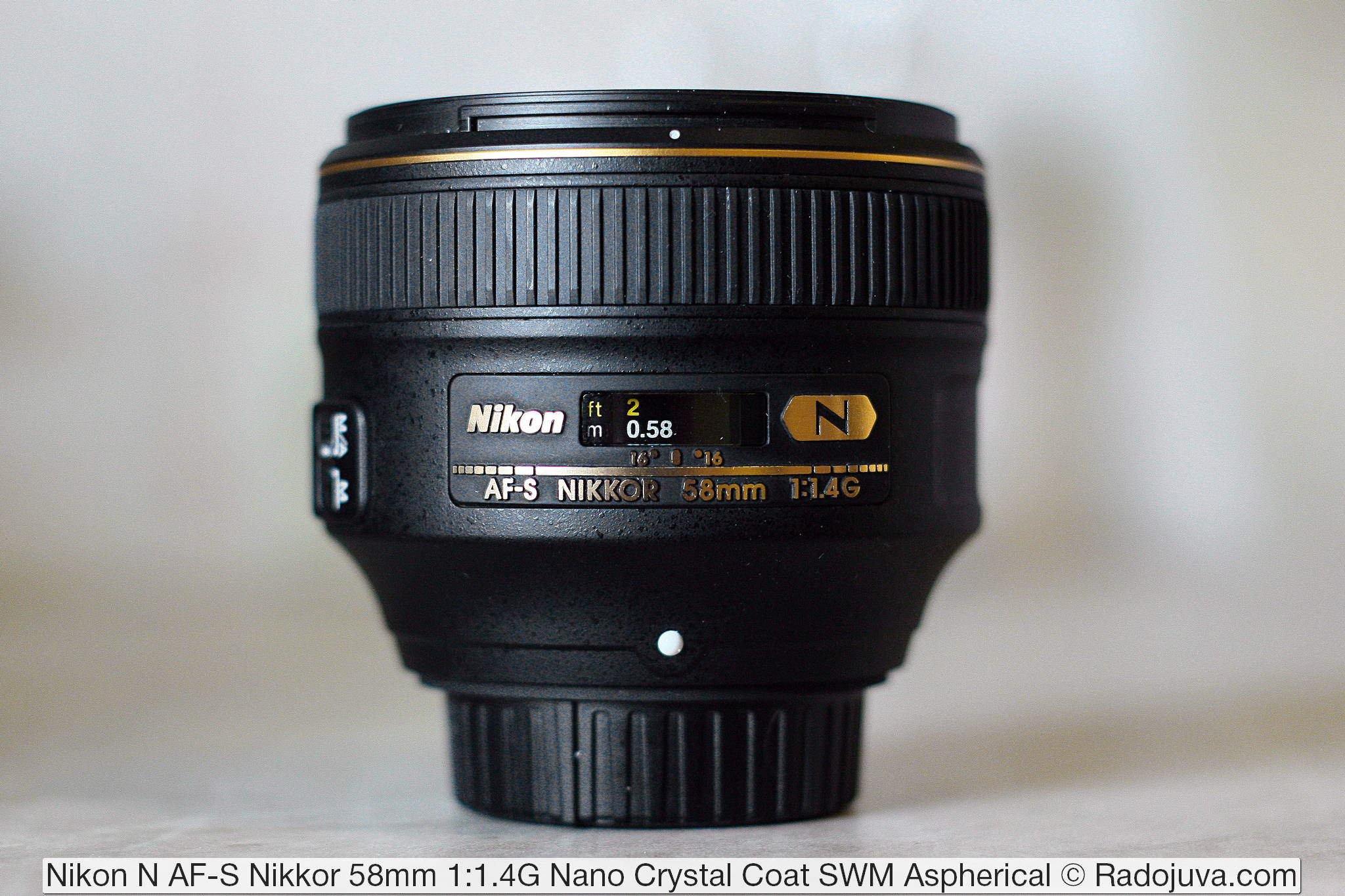 Nikon N AF-S Nikkor 58mm 1:1.4G Nano Crystal Coat SWM Aspherical