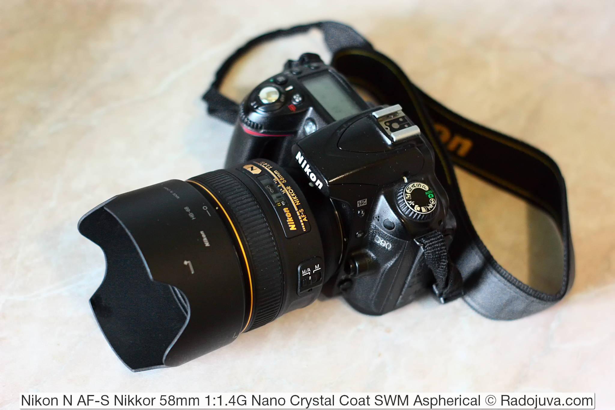 Nikon N AF-S Nikkor 58mm 1:1.4G Nano Crystal Coat SWM Aspherical