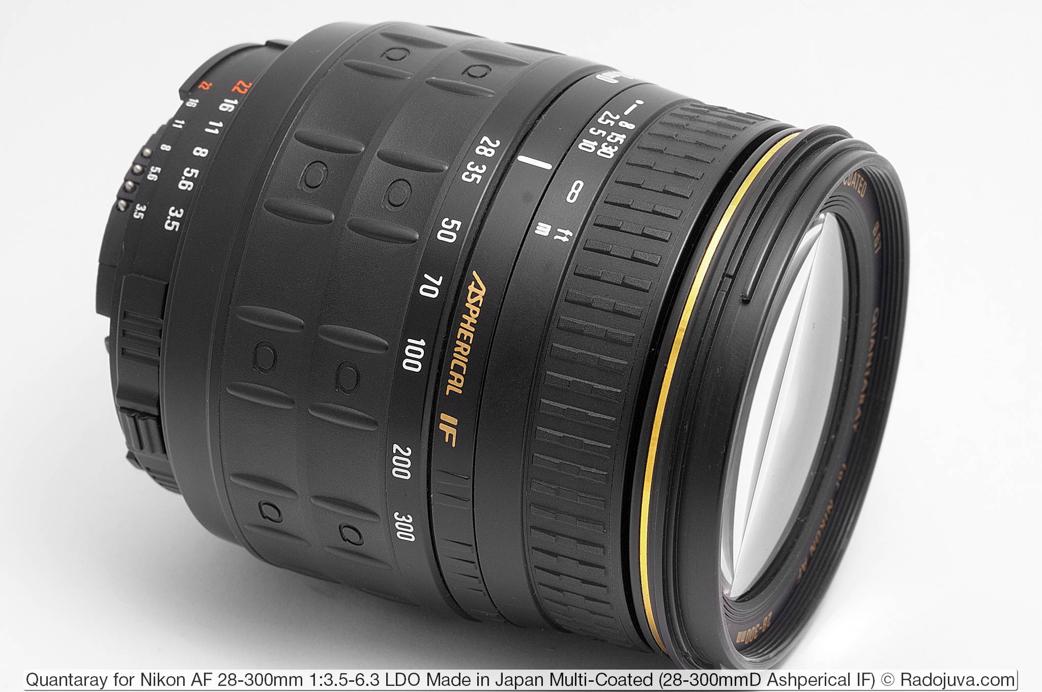 Quantaray (SIGMA) for Nikon AF 28-300mm 1:3.5-6.3 LDO Multi-Coated (28-300mmD Ashperical IF)