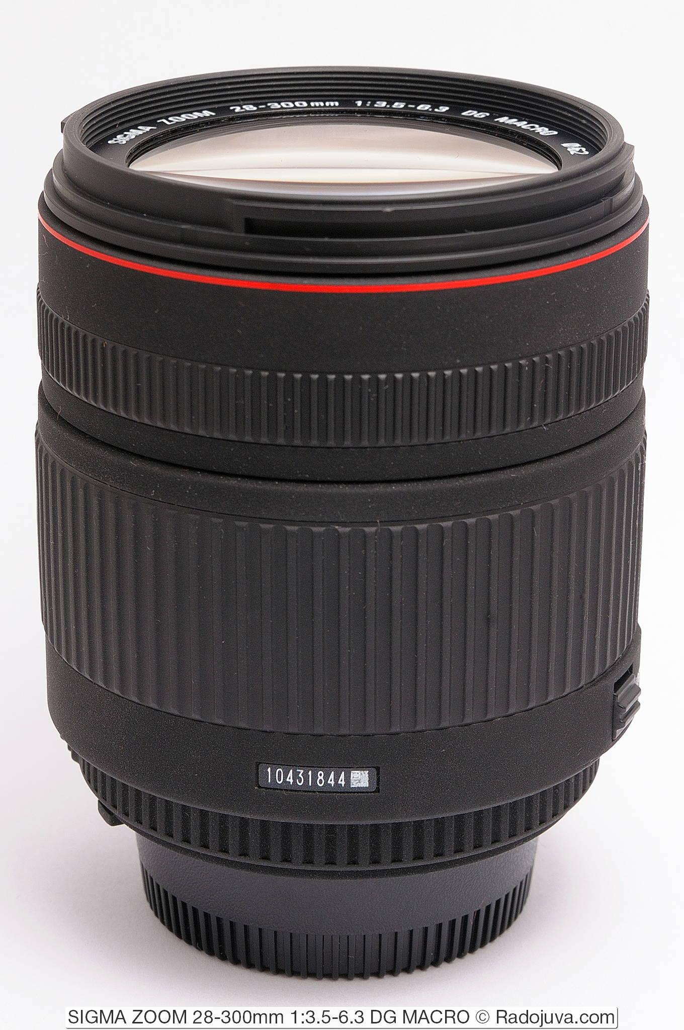 SIGMA ZOOM 28-300mm 1:3.5-6.3 DG MACRO