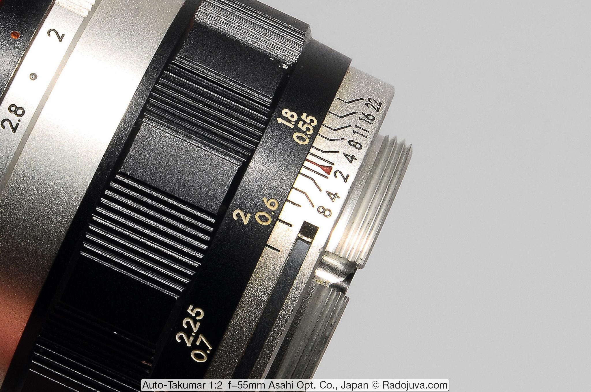 Auto-Takumar 1:2 f=55mm Asahi Opt. Co., Japan