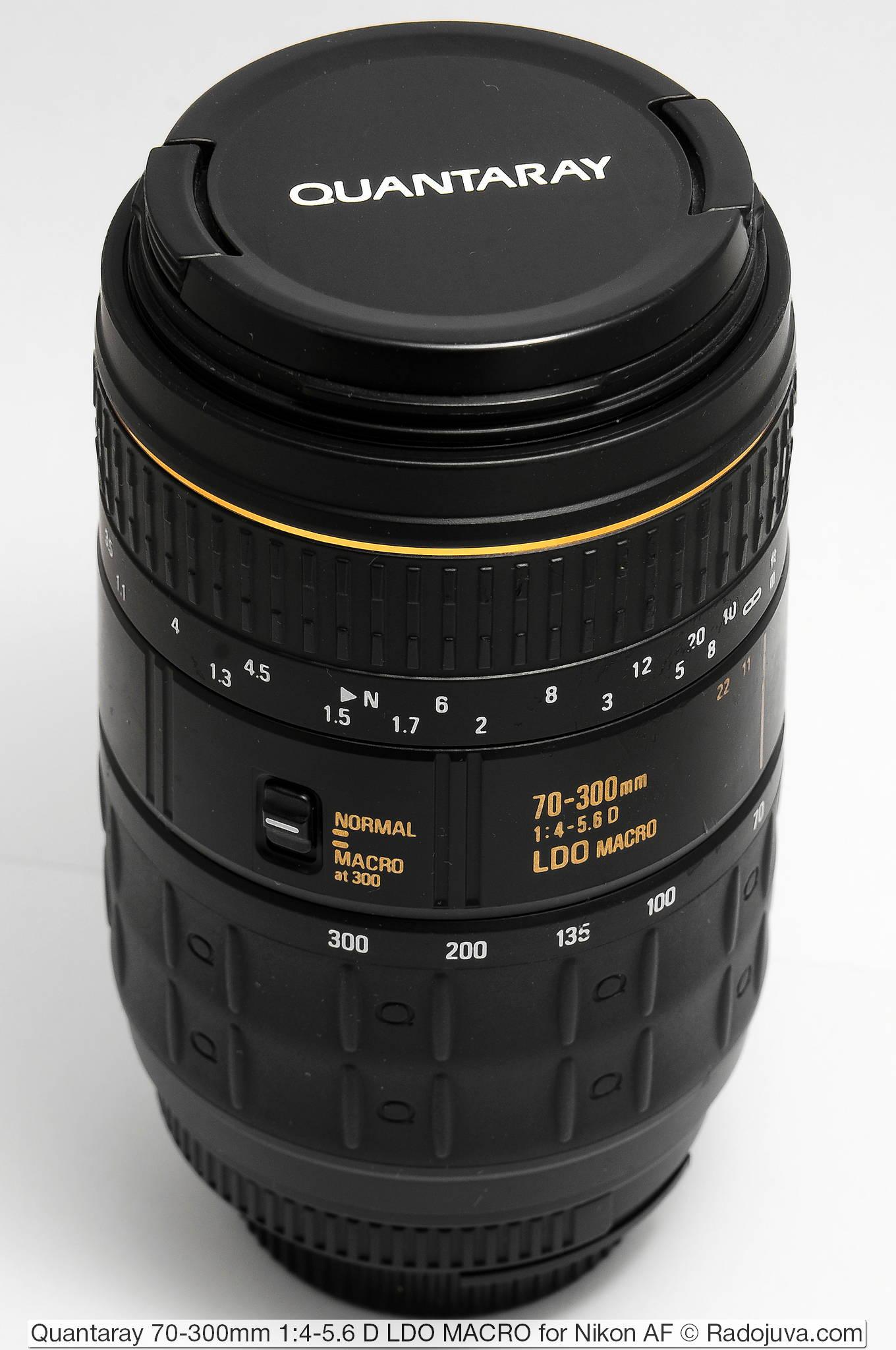 Quantaray 70-300mm 1:4-5.6 D LDO MACRO for Nikon AF