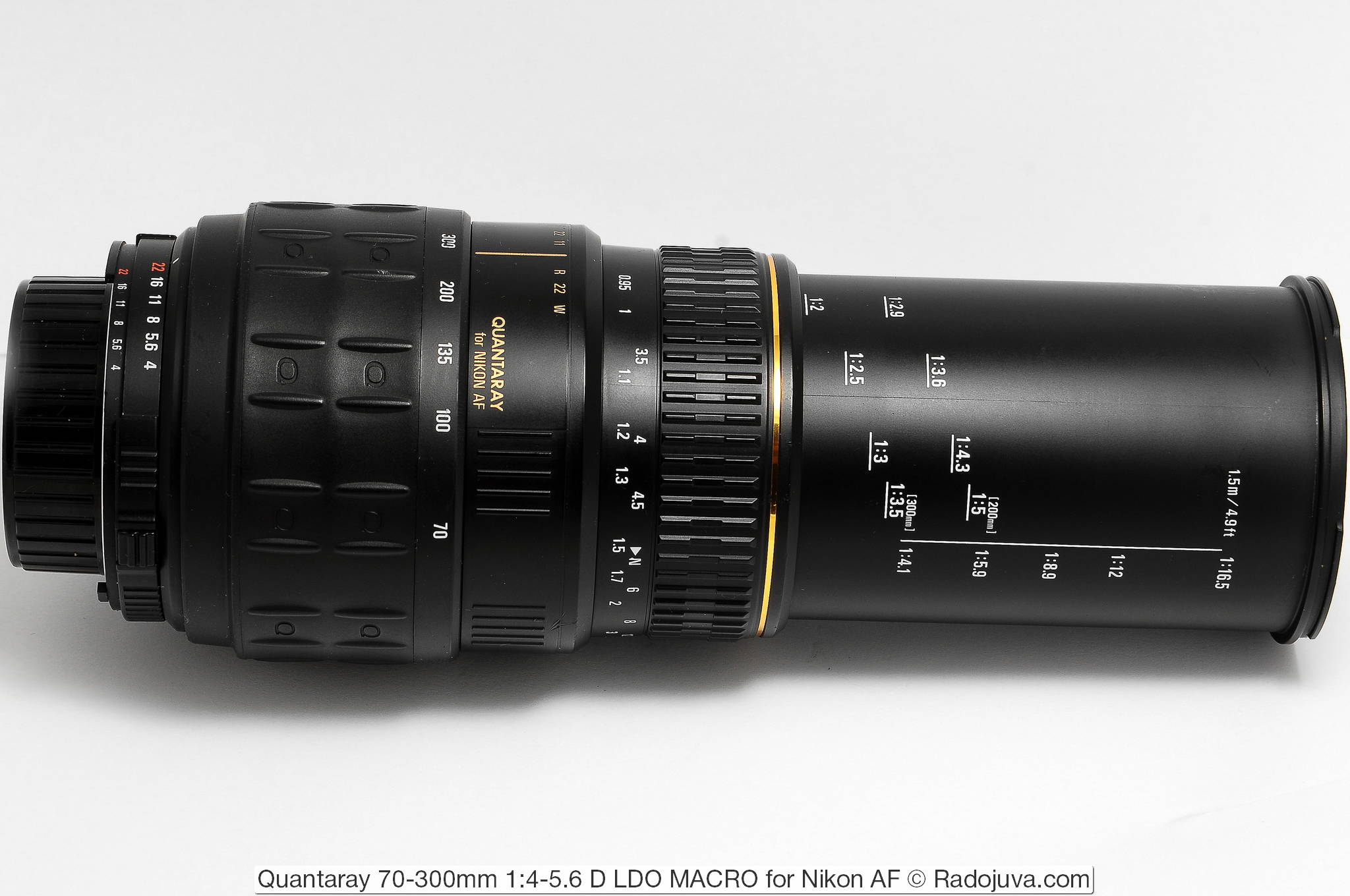 Quantaray 70-300mm 1:4-5.6 D LDO MACRO for Nikon AF, MACRO (200-300)