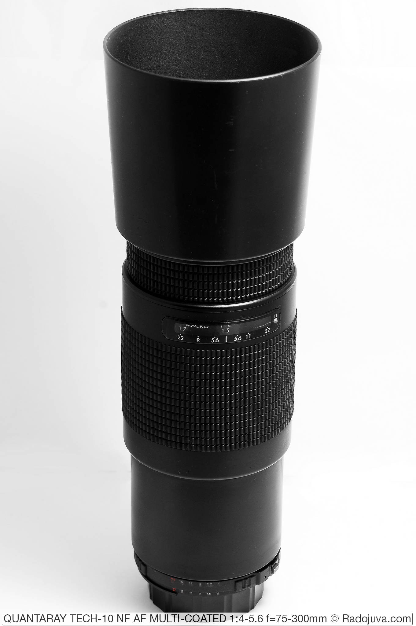 QUANTARAY TECH-10 NF AF MULTI-COATED 1:4-5.6 f=75-300mm