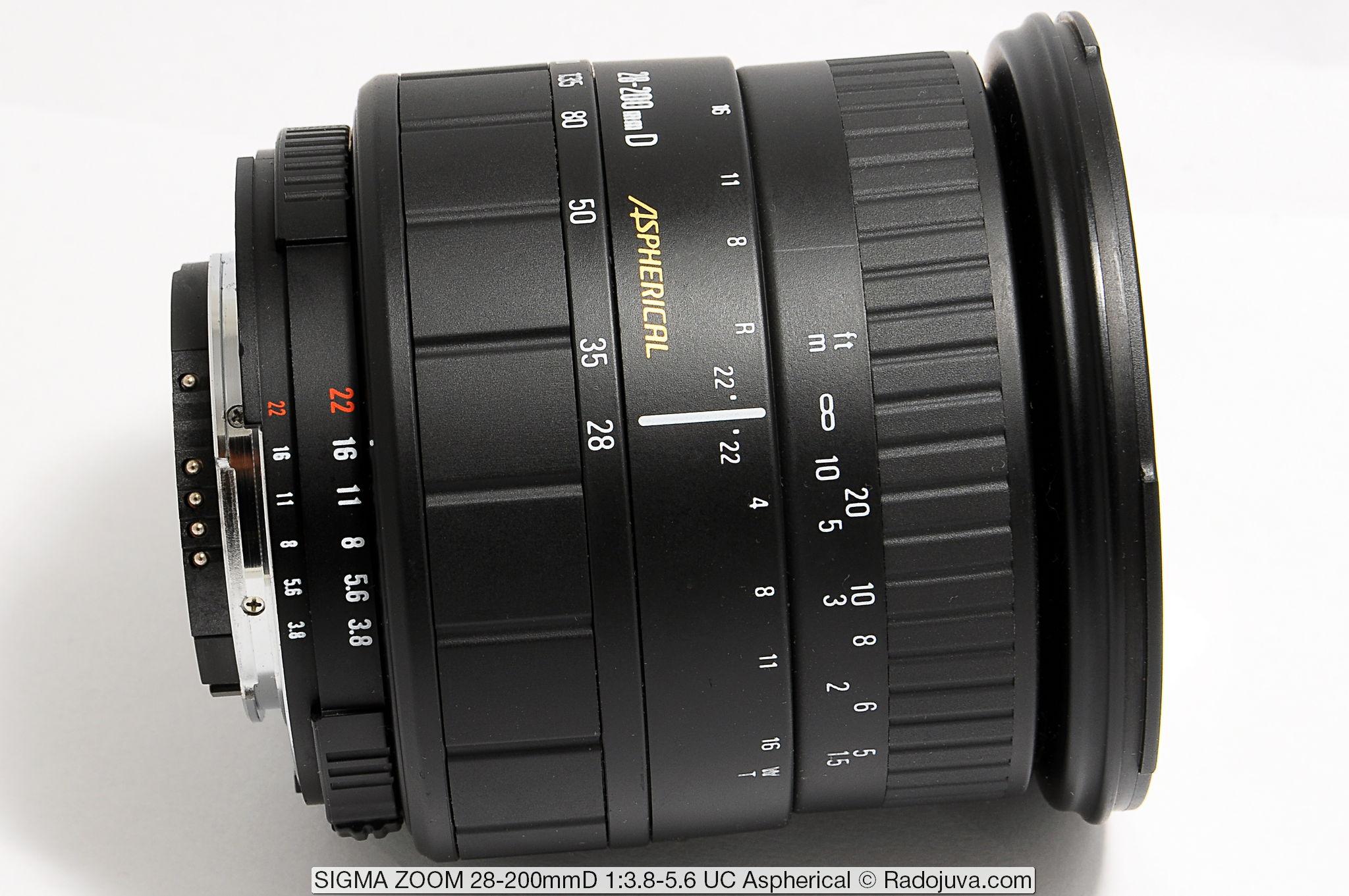 SIGMA ZOOM 28-200mmD 1:3.8-5.6 UC Aspherical