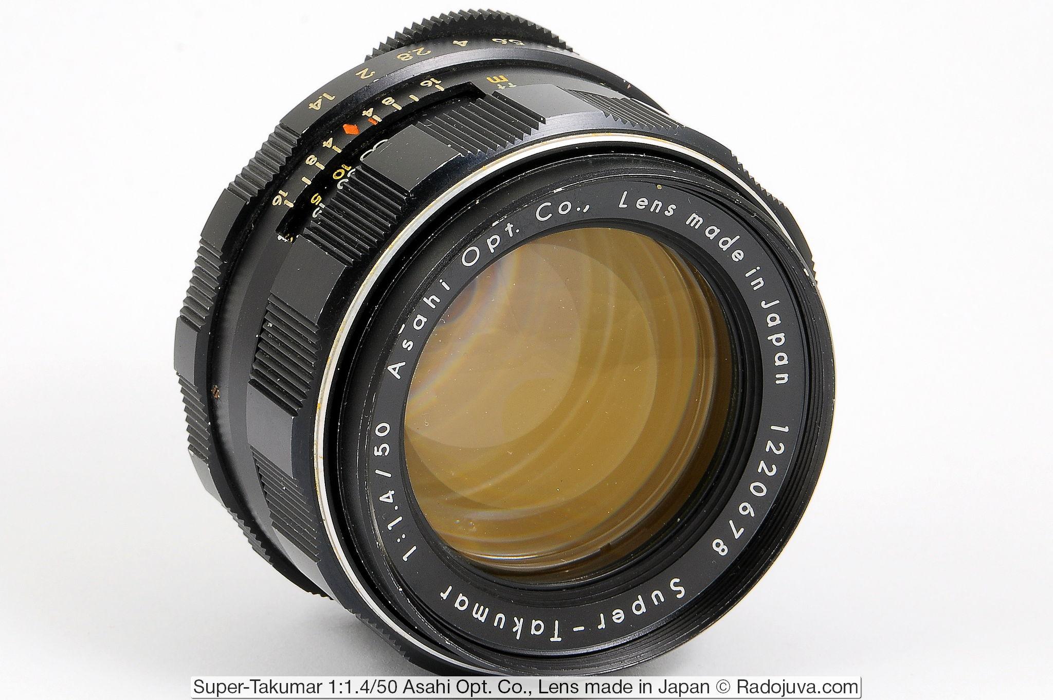 Super-Takumar 1:1.4/50 Asahi Opt. Co., Lens made in Japan