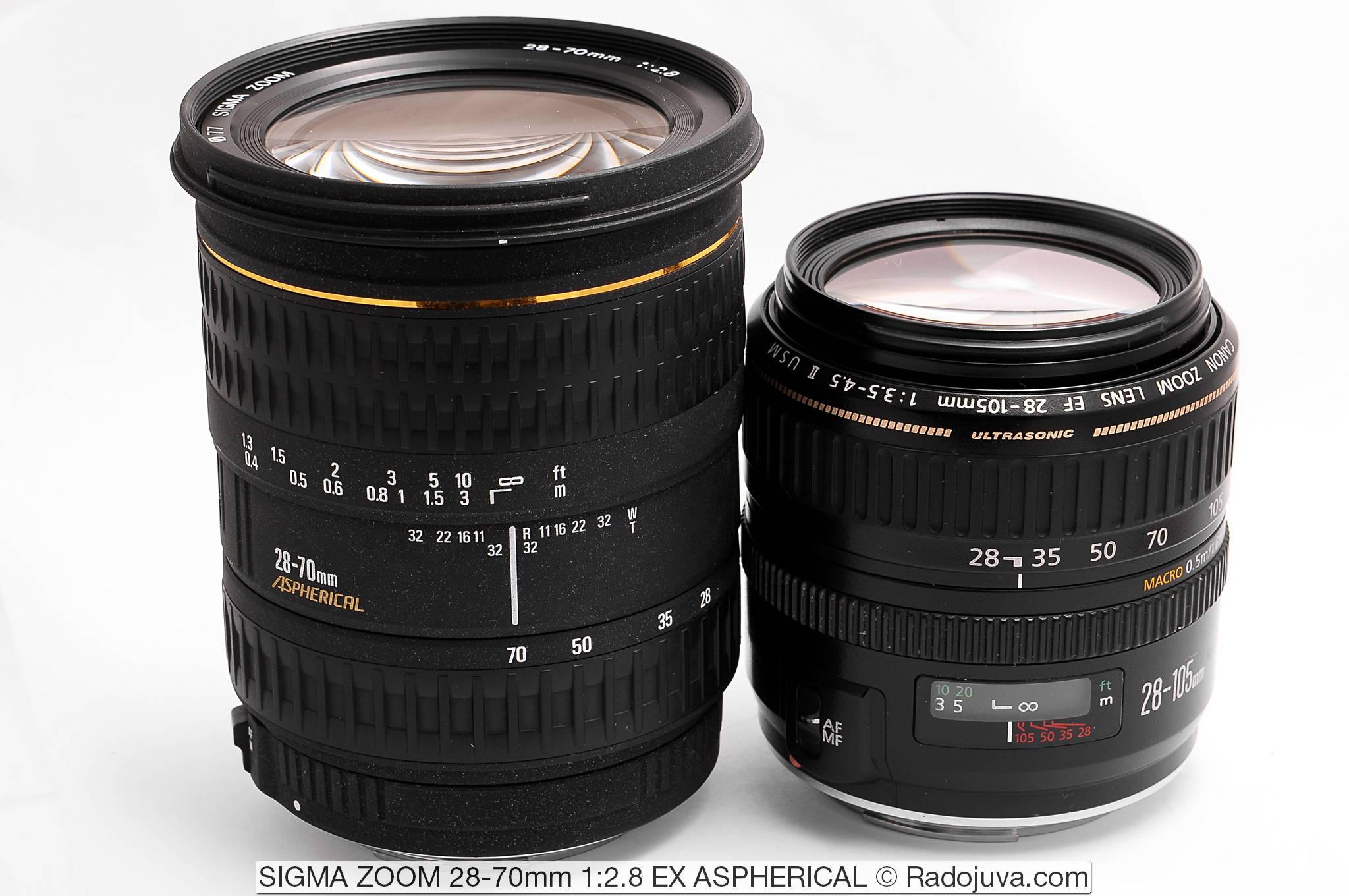SIGMA ZOOM 28-70mm 1: 2.8 EX ASPHERICAL