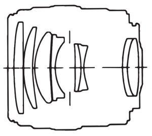 Оптическая схема Canon 100 F/2