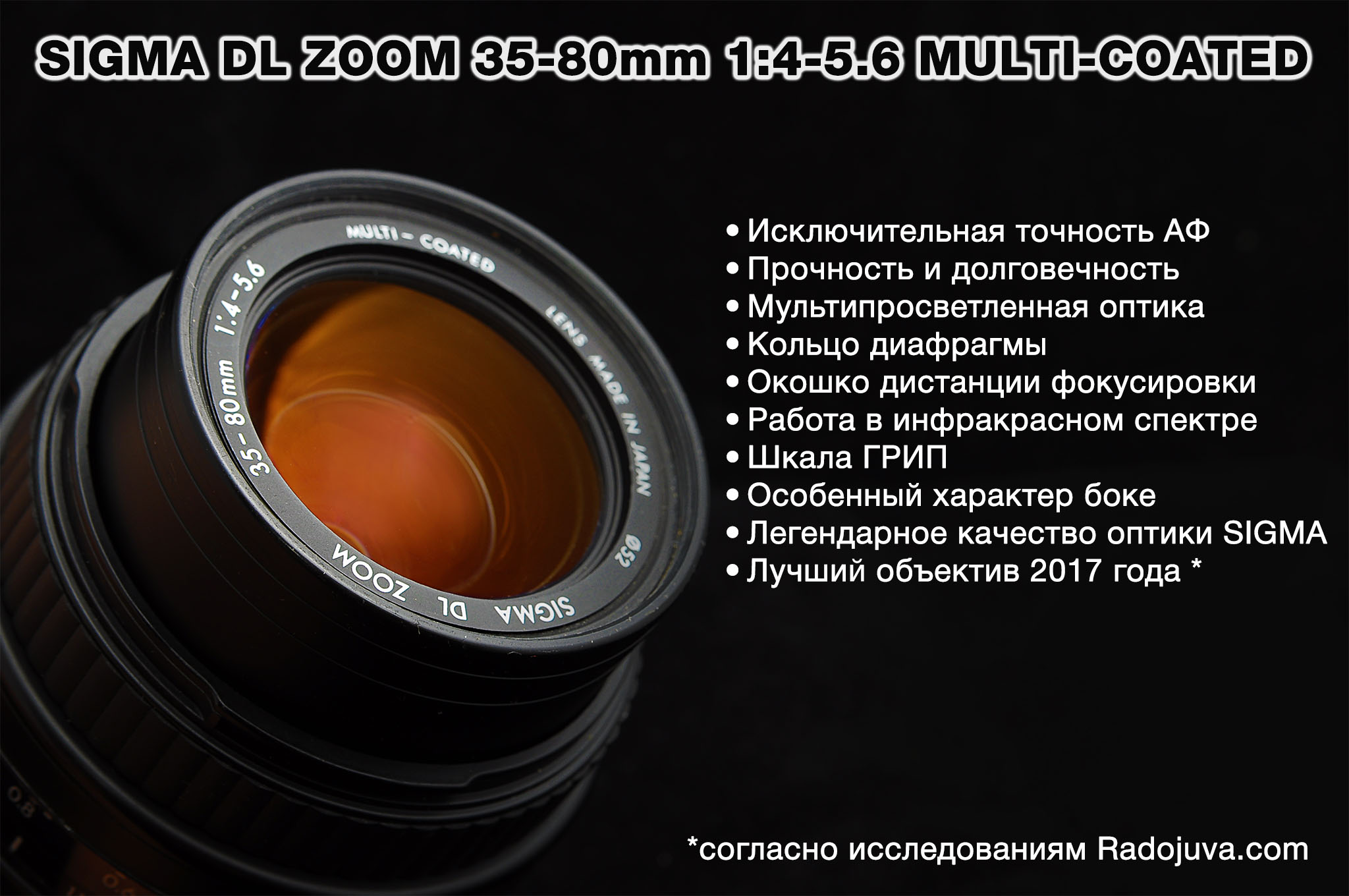 SIGMA DL ZOOM 35-80mm 1:4-5.6 MULTI-COATED