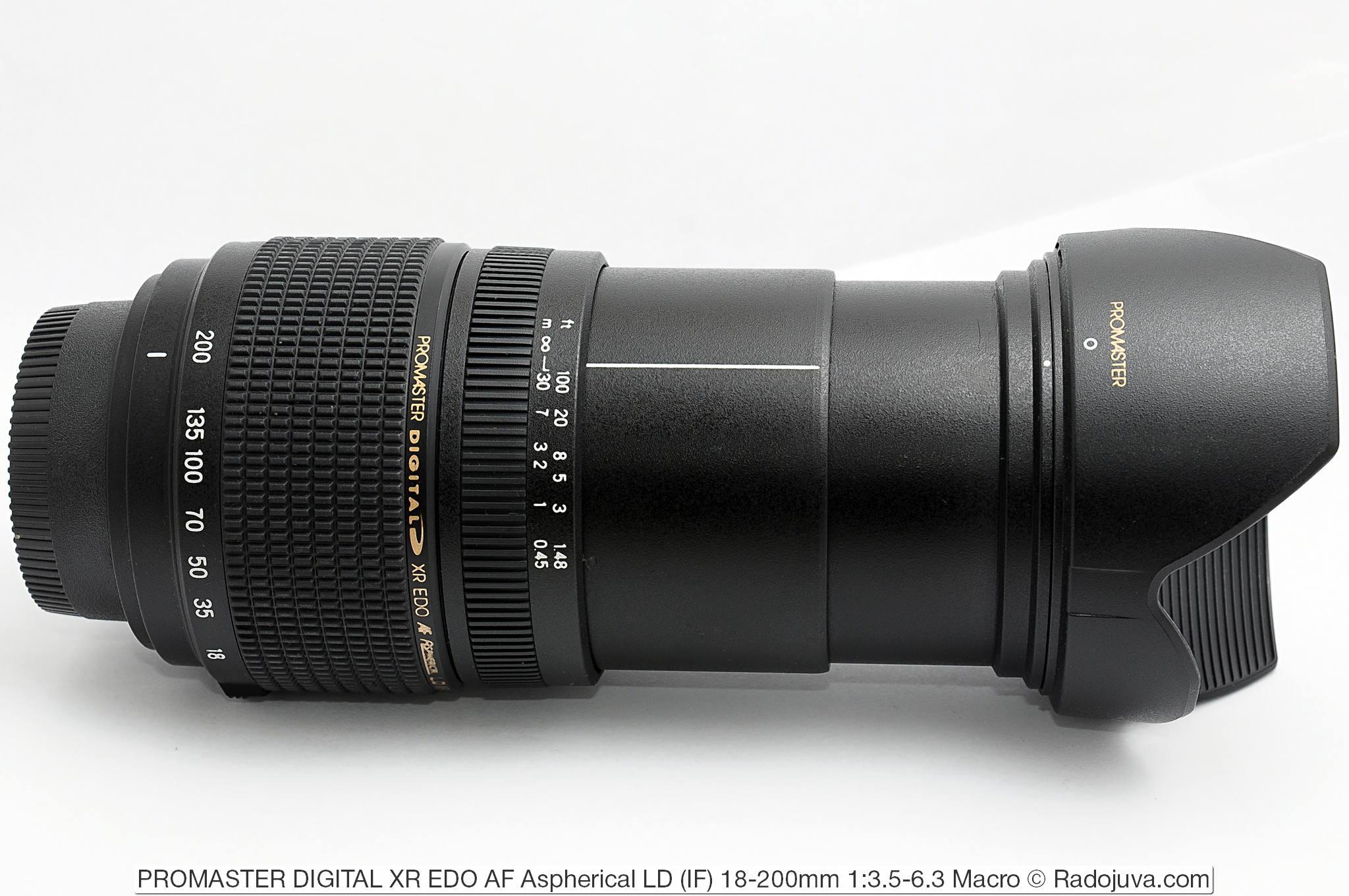 PROMASTER DIGITAL XR EDO AF Aspherical LD (IF) 18-200mm 1:3.5-6.3 Macro