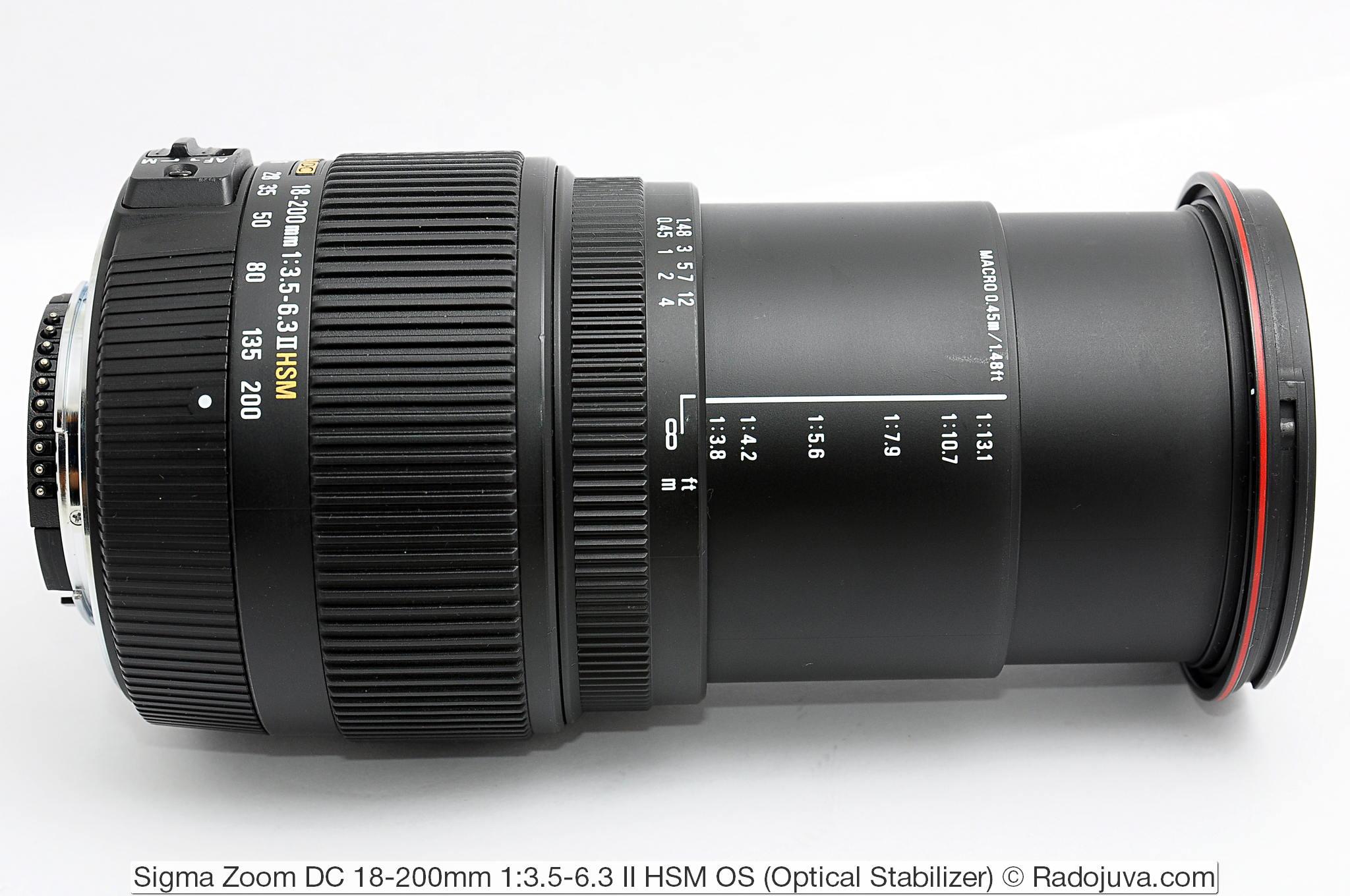 Sigma Zoom DC 18-200mm 1:3.5-6.3 II HSM OS