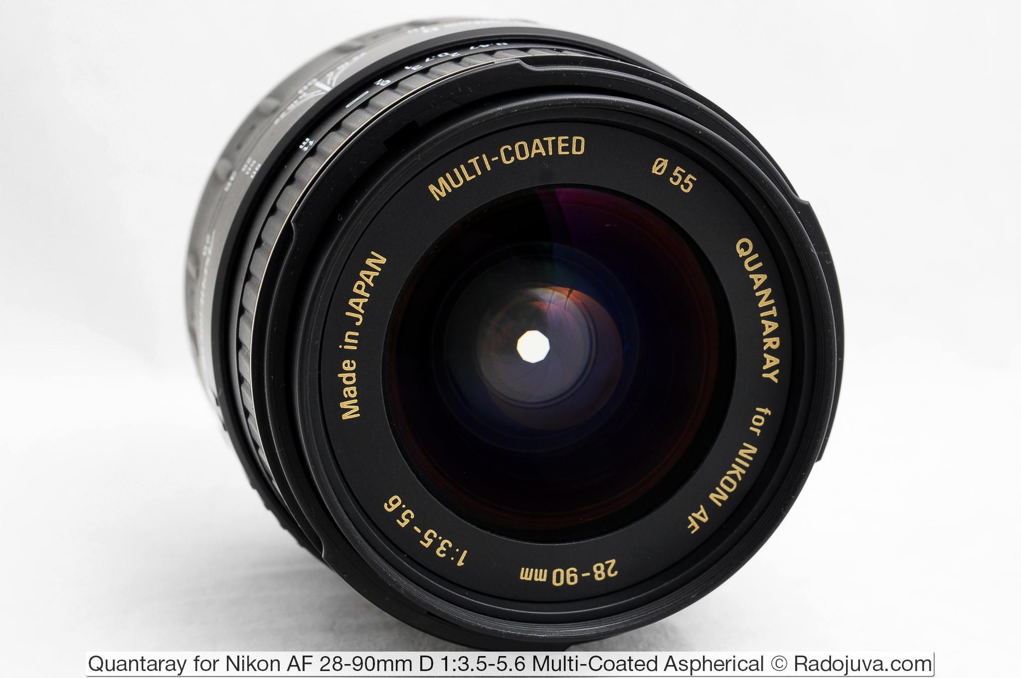 Quantaray for Nikon AF 28-90mm D 1:3.5-5.6 Multi-Coated Aspherical