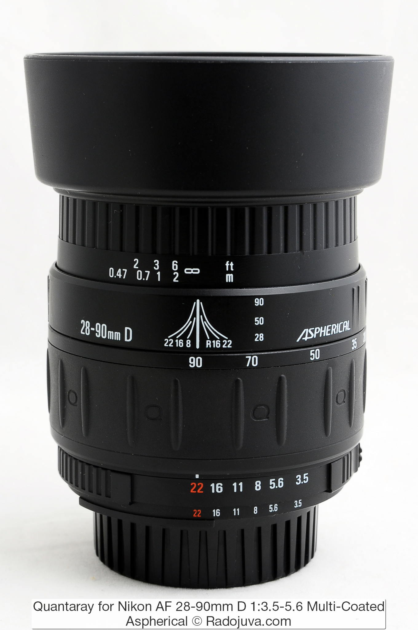 Quantaray for Nikon AF 28-90mm D 1:3.5-5.6 Multi-Coated Aspherical