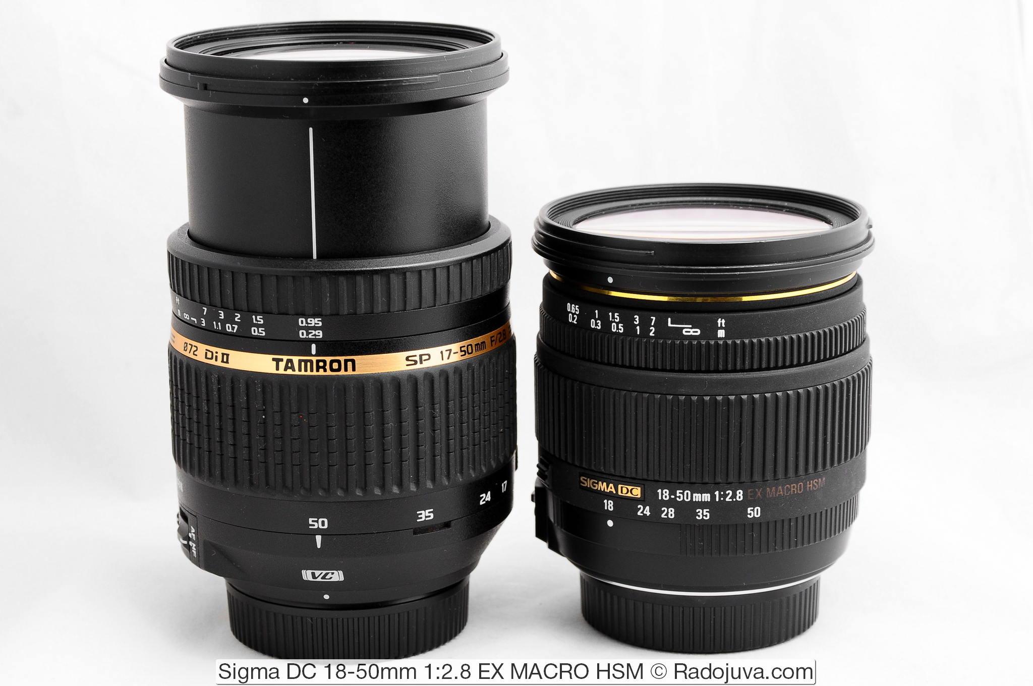 Tamron AF 17-50mm f/2.8 SP XR Di II LD Aspherical [IF] VC B005 и Sigma DC 18-50mm 1:2.8 EX MACRO HSM
