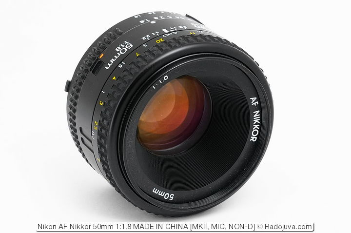 Nikon AF Nikkor 50mm 1:1.8, версия MKII, MIC (MADE IN CHINA)