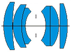 Оптическая схема объектива МС Гелиос 81н