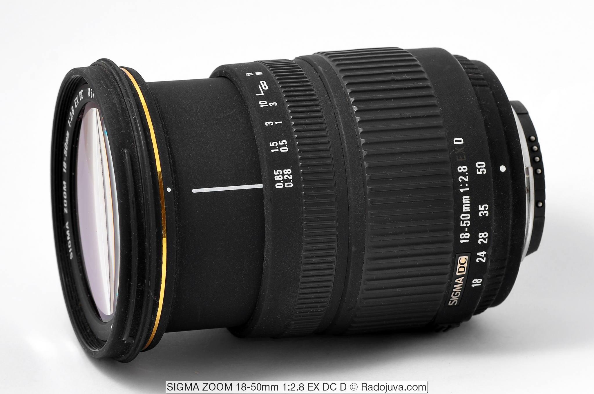 SIGMA ZOOM 18-50mm 1:2.8 EX DC (D)