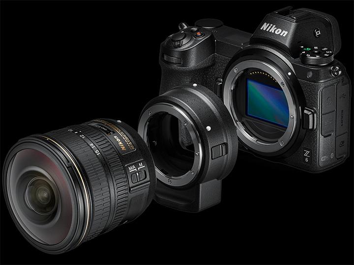 Nikon Z6 с адаптером FTZ