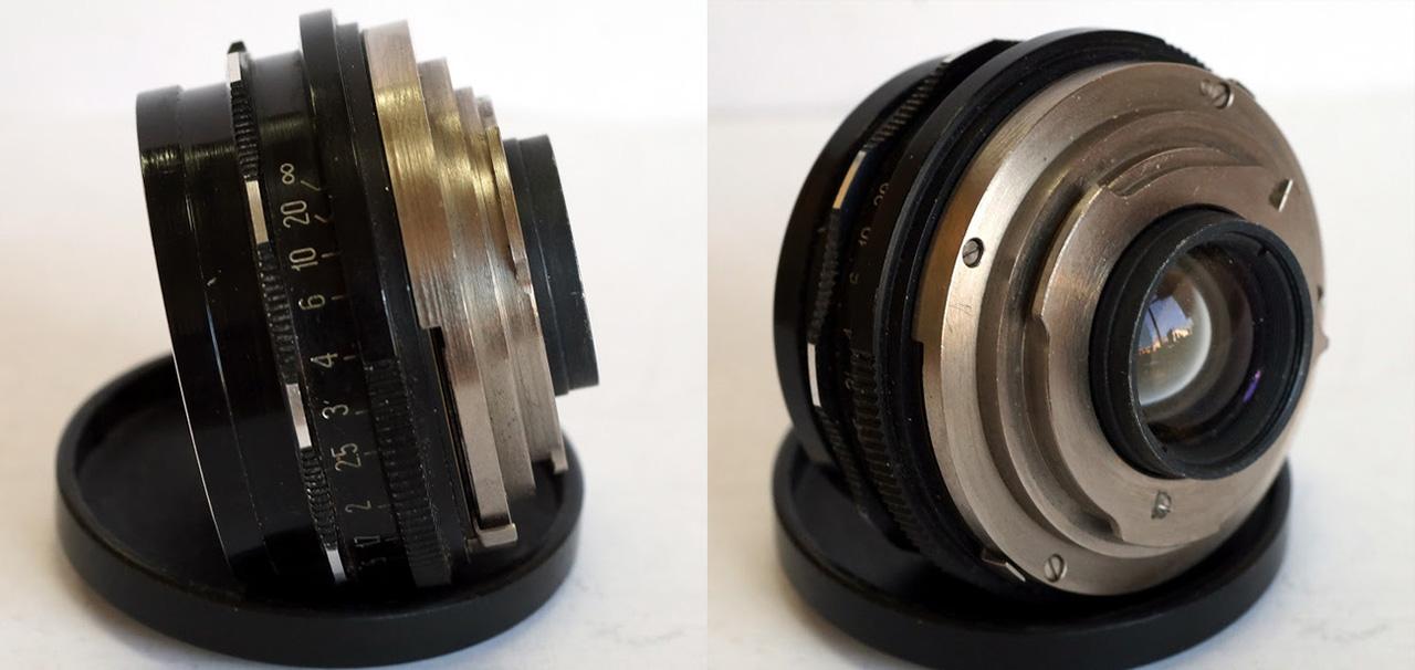 Вид неадаптированного объектива «Вега-3» в черном корпусе