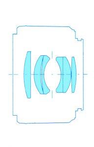 Оптическая схема Yongnuo Lens YN50mm F1.8 II