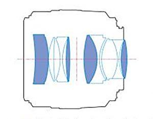 Оптическая схема YN50mm F1.4
