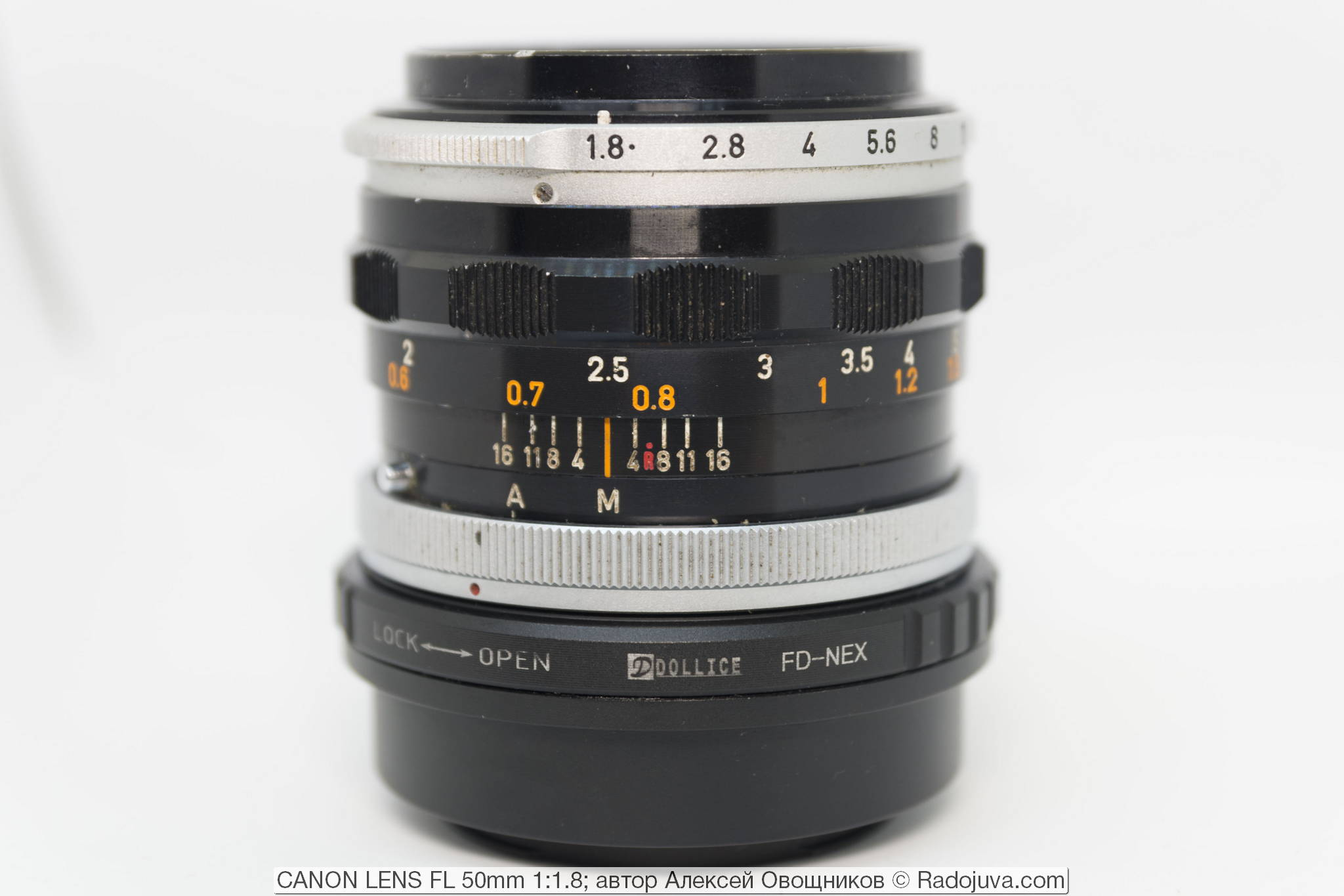CANON LENS FL 50mm 1:1.8