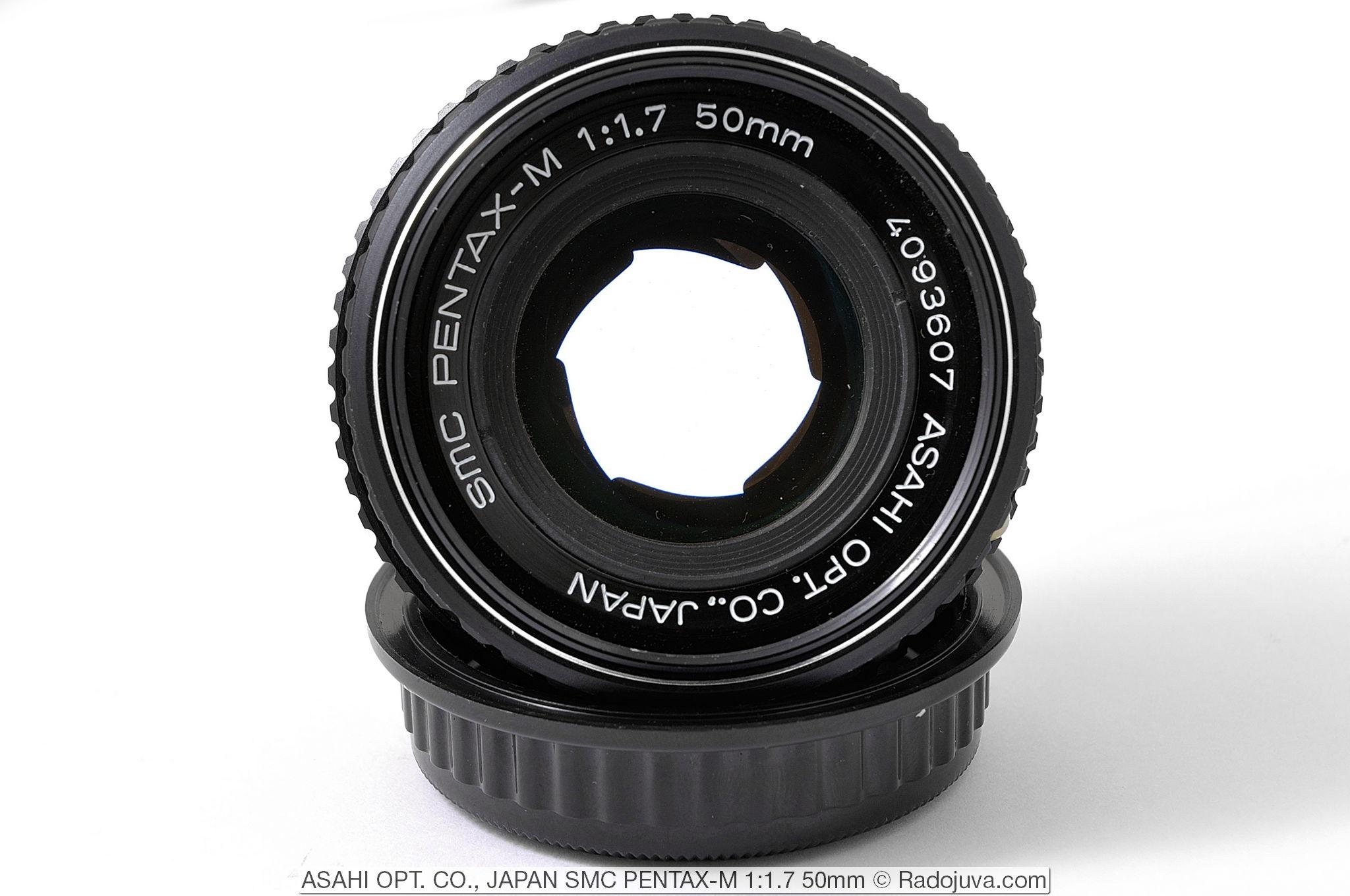 Зазубрины диафрагмы на значении F/2 у ASAHI OPT. CO., JAPAN SMC PENTAX-M 1:1.7 50mm