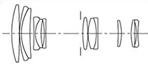 Оптическая схема SIGMA ZOOM 55-200mm 1:4-5.6 DC HSM