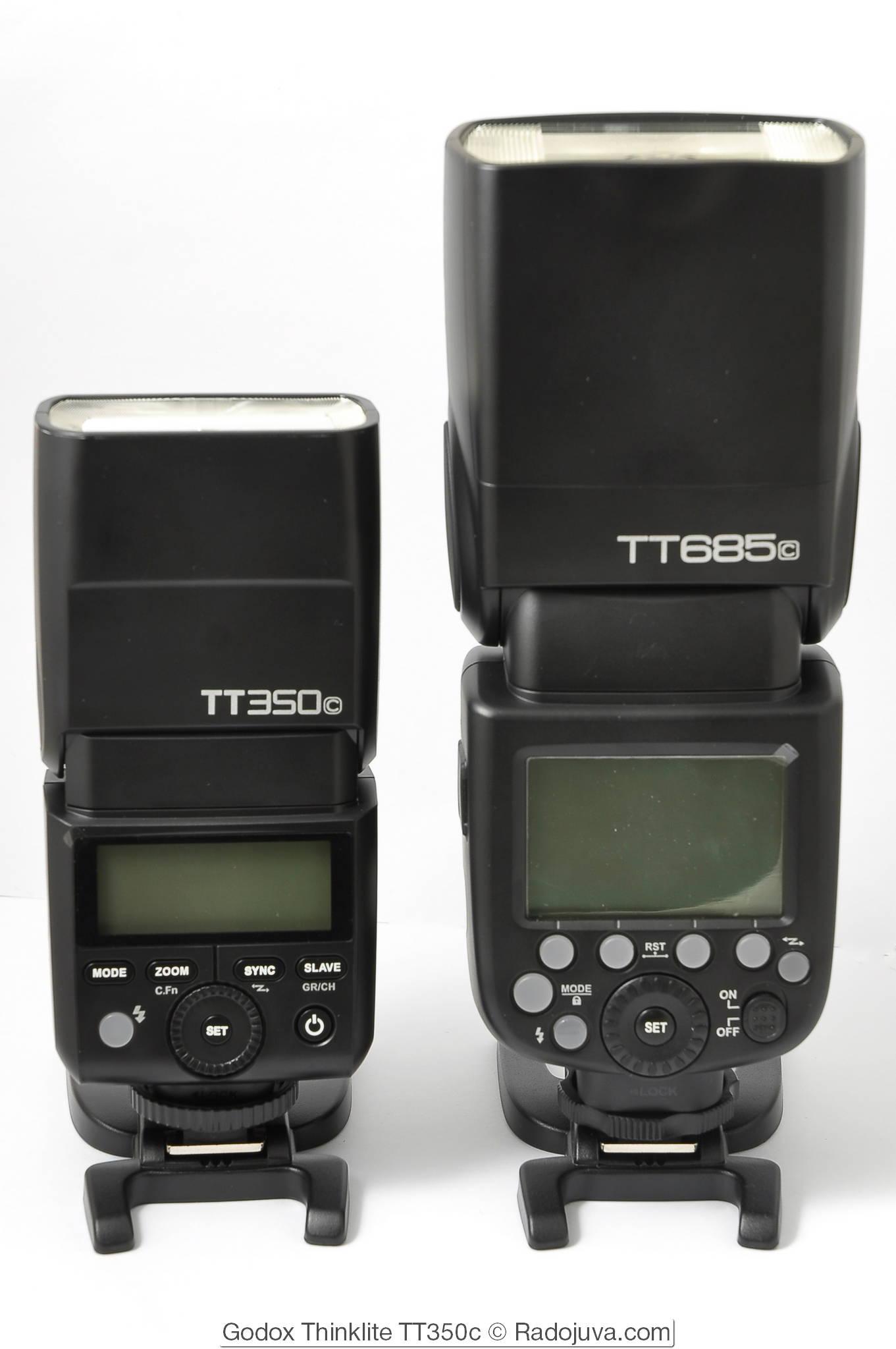 Размеры Godox Thinklite TT350c и Godox ThinkLite TT685c