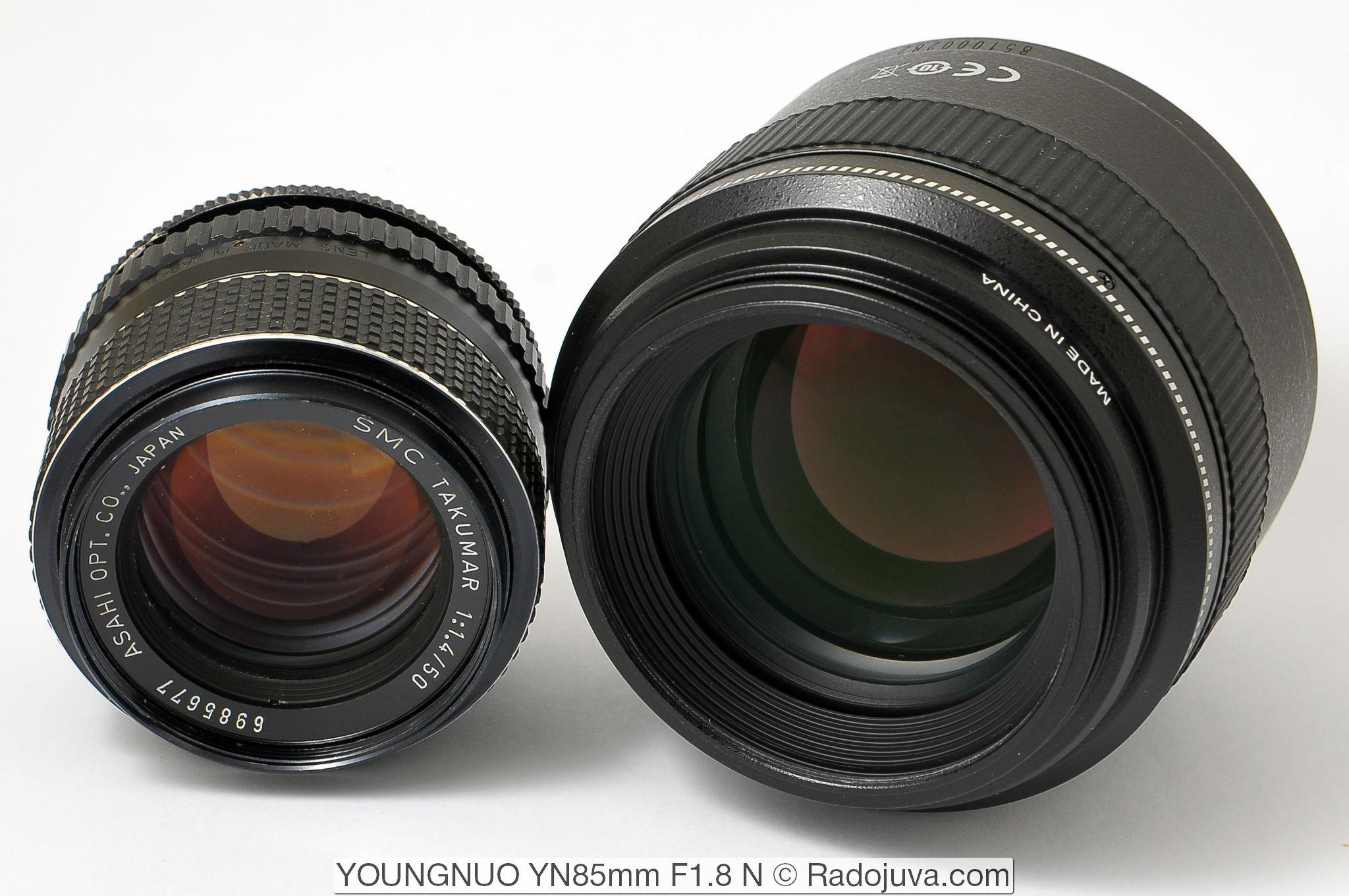 SMC Takumar 1:1.4/50 Asahi OPT. CO., Japan и Yongnuo YN 85mm F1.8 N