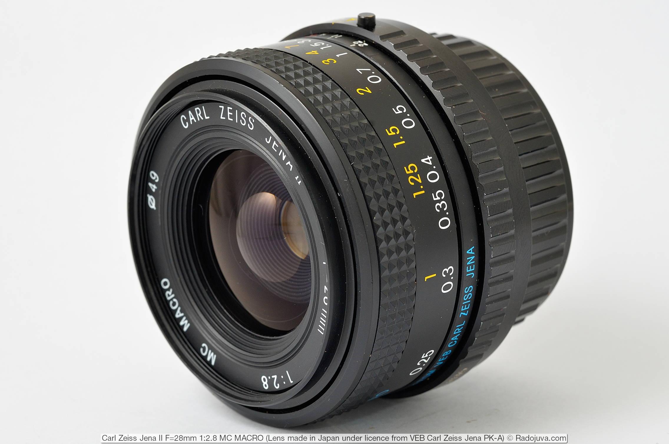 Carl Zeiss Jena II F=28mm 1:2.8 MC MACRO