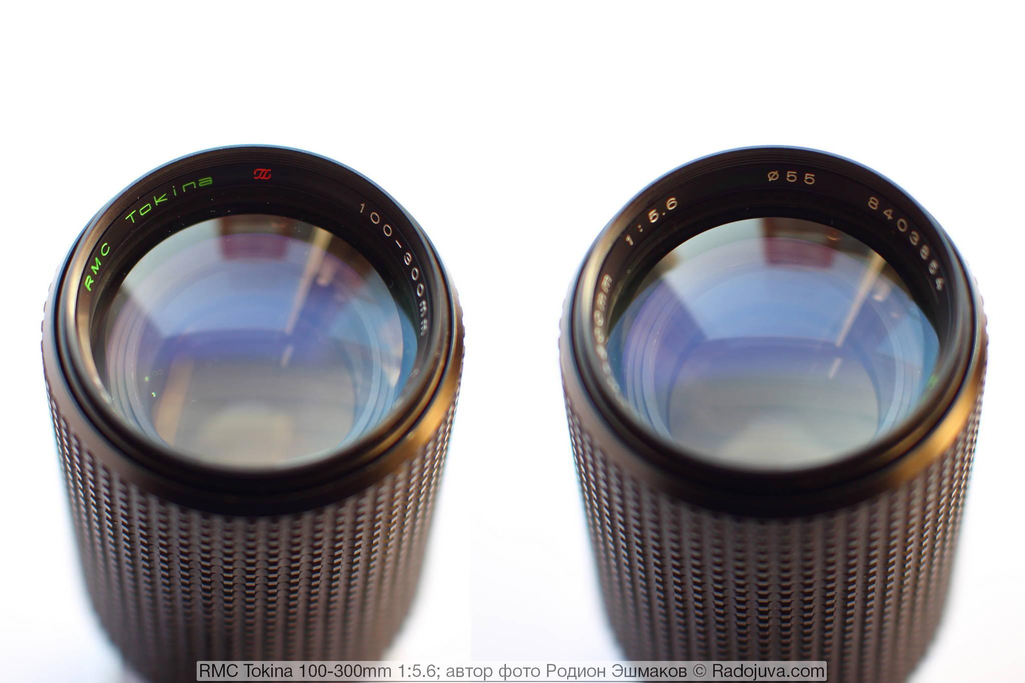 Вид на переднюю часть объектива