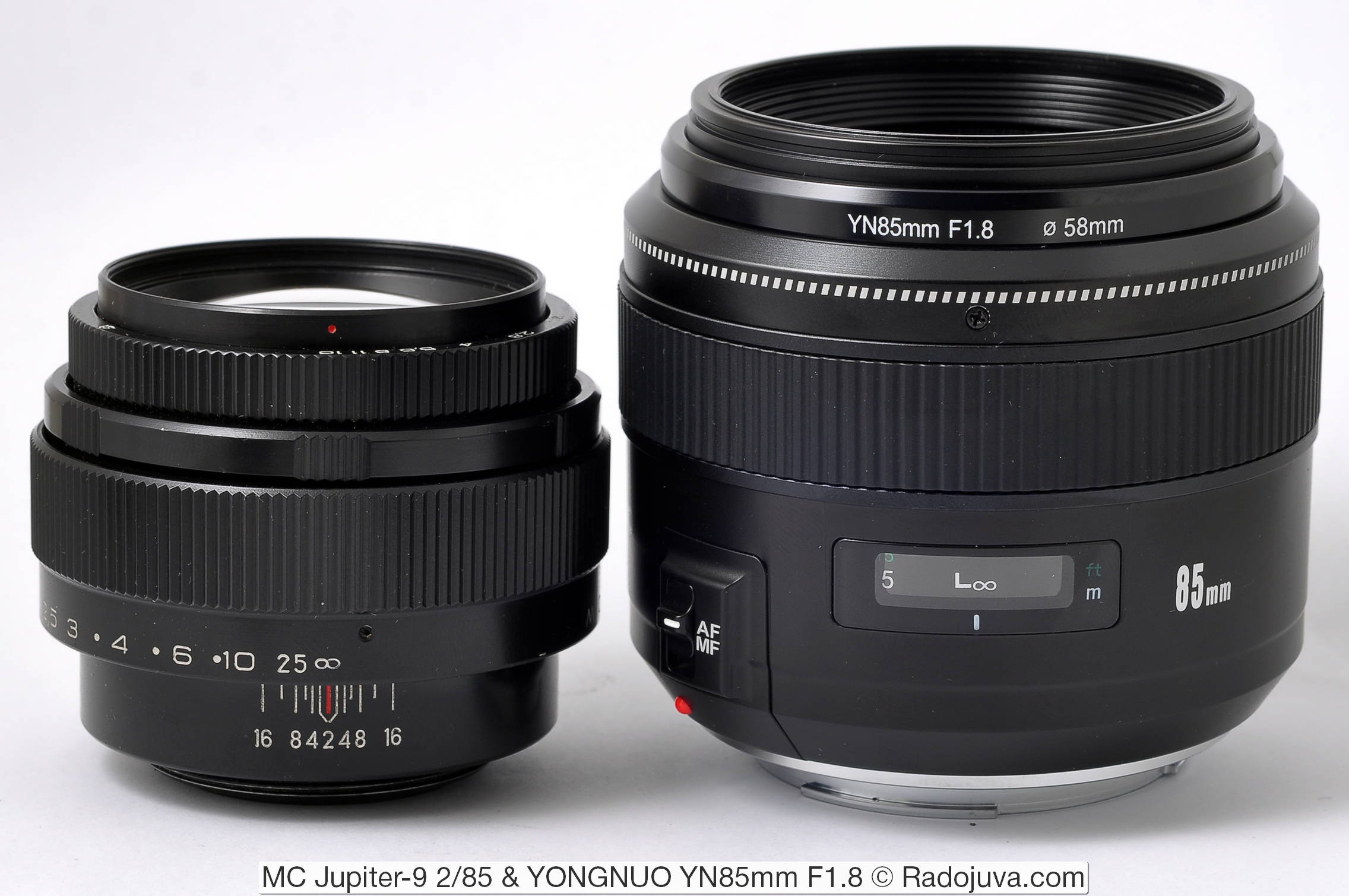 MC Jupiter-9 2/85 and YONGNUO YN85mm F1.8 (for Canon EF)
