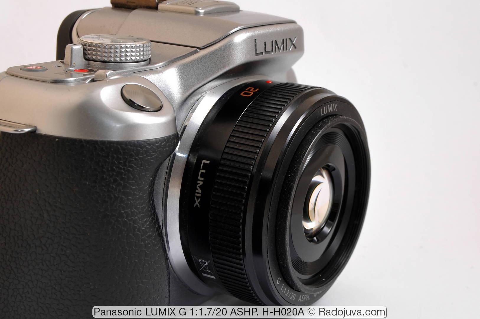 Panasonic LUMIX G 1:1.7/20 ASHP. (вторая версия, H-H020A)