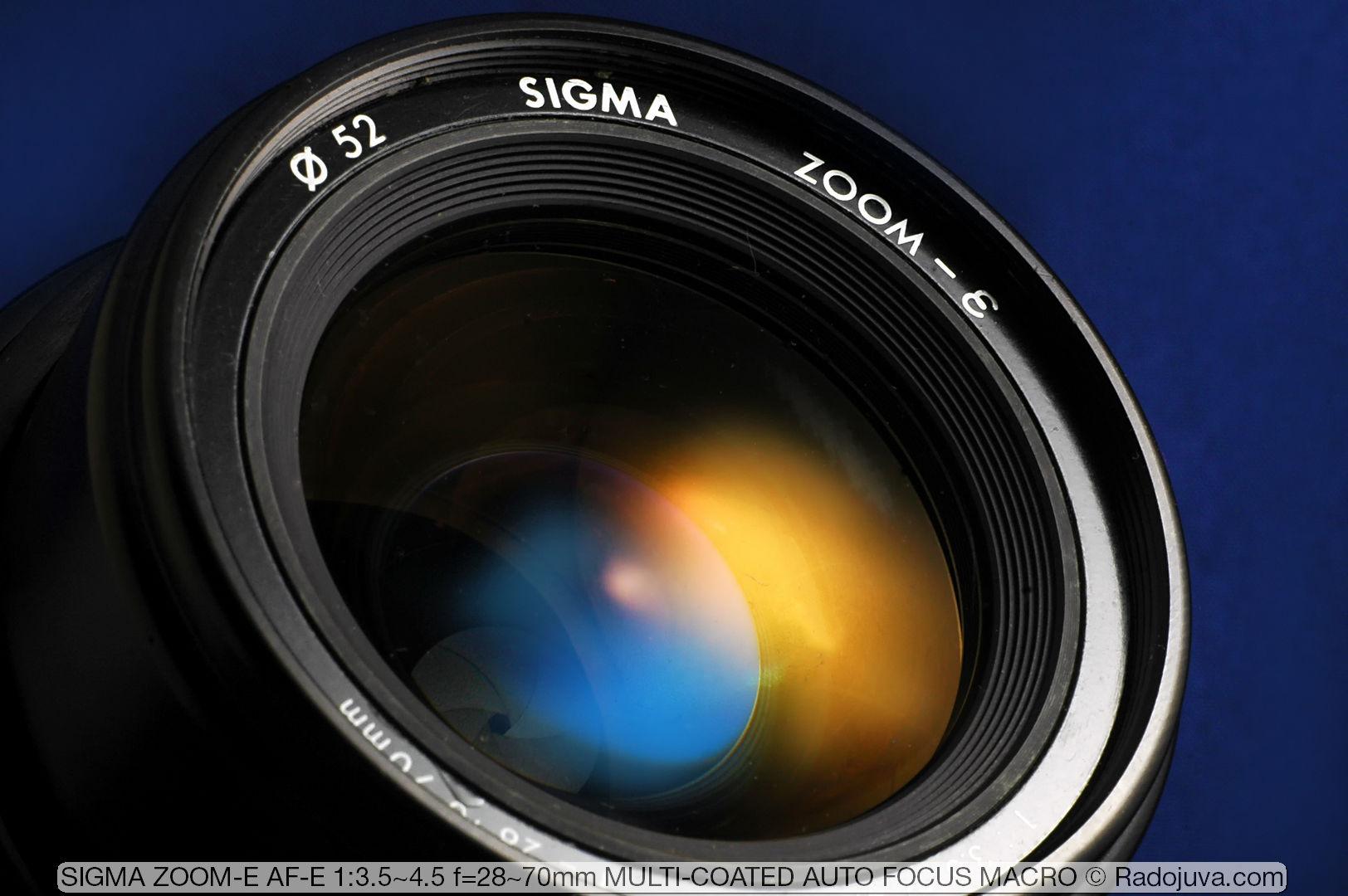SIGMA ZOOM-E AF-E 1:3.5-4.5 f=28-70mm MULTI-COATED AUTO FOCUS MACRO