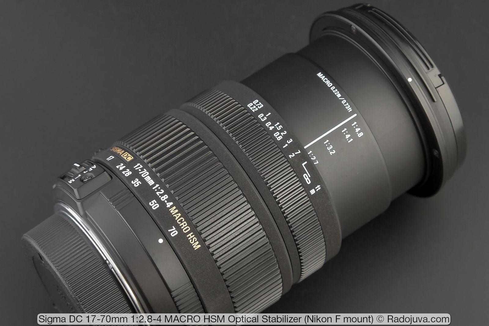 Sigma DC 17-70mm 1: 2.8-4 MACRO HSM Optical Stabilizer