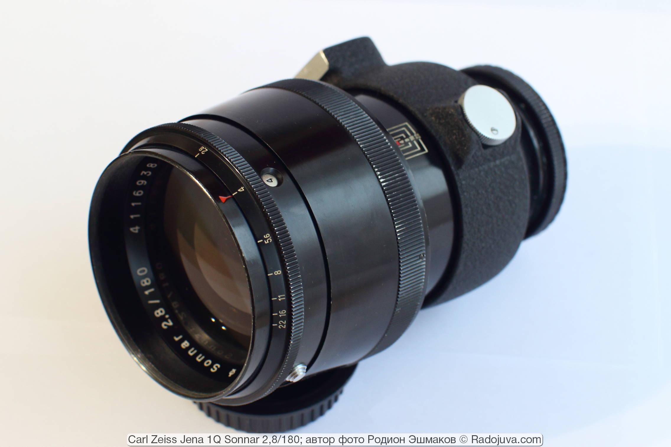 Вид объектива 1Q Sonnar 180/2.8.