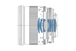 оптическая схема Carl Zeiss Makro-Planar 2/50 ZF.2 T*