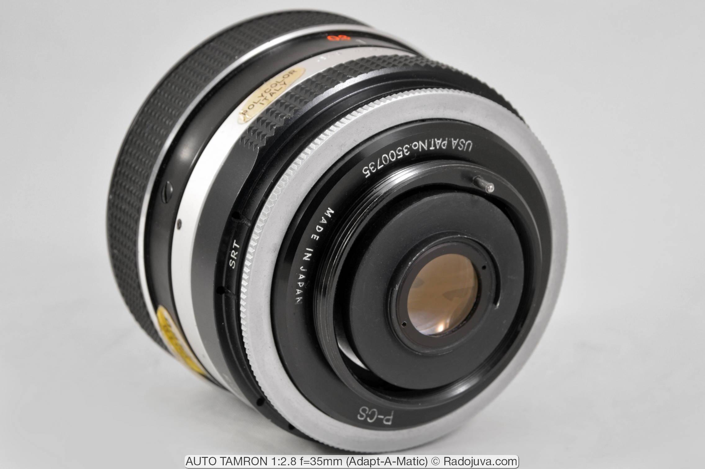 AUTO TAMRON 1:2.8 f=35mm (Adapt-A-Matic)